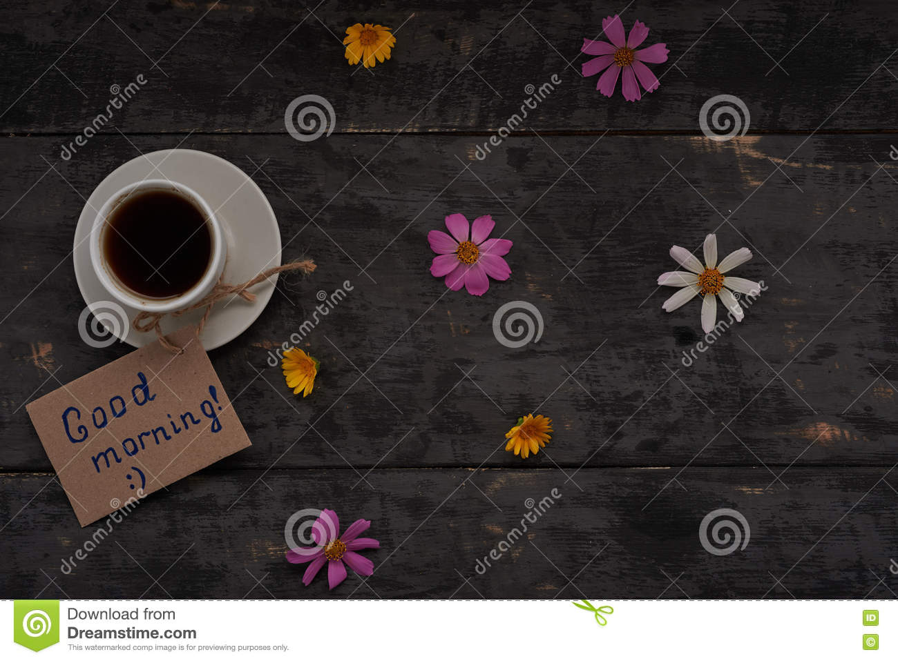 Good Morning Greetings Stock Image Image Of Message 76801903