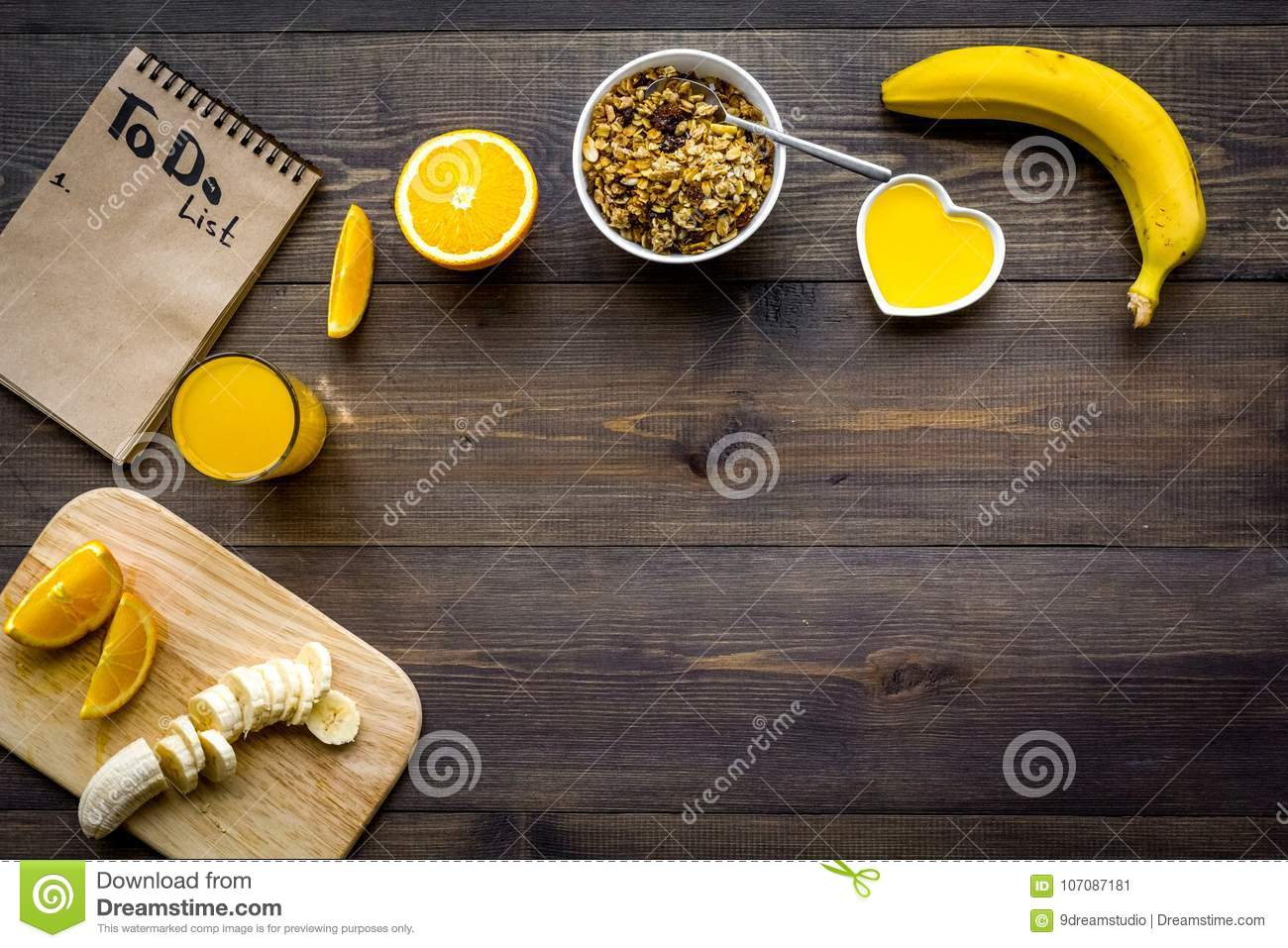 Good Morning Habits Eat Porridge And Fruits And Make To Do List