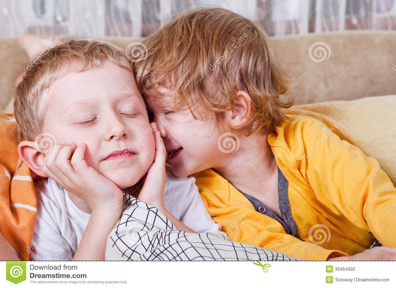 Good Morning Stock Photo Image Of Hugging Little Kiss 30454302