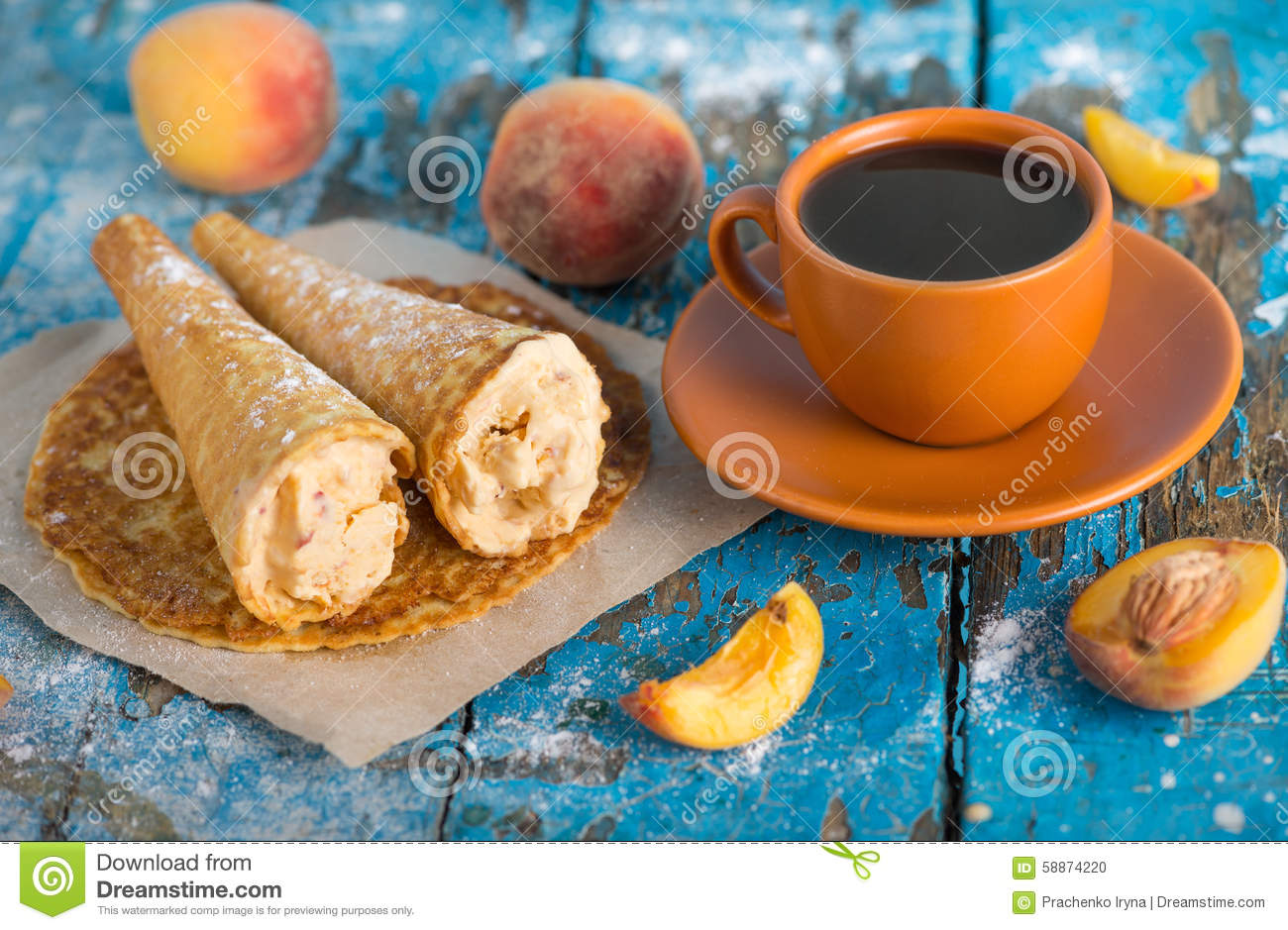 Good Morning Have A Nice Day A Cup Of Coffee Stock Photo Image