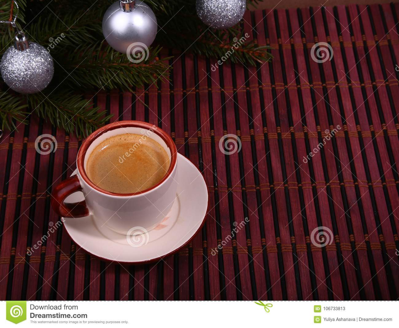 Good Morning Or Have A Nice Day Merry Christmas Cup Of Coffee With