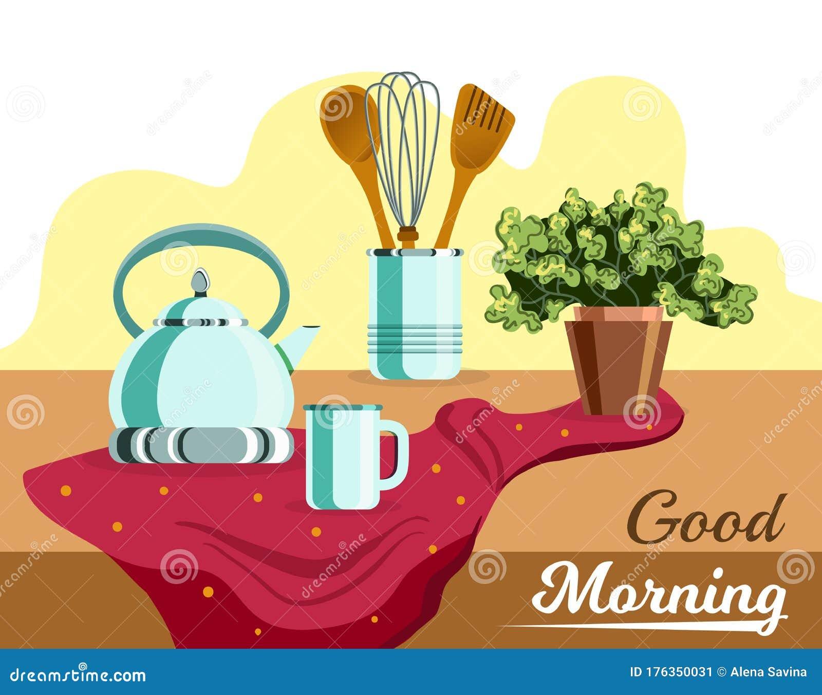 Good Morning Illustration Stock Vector Illustration Of Cover 176350031