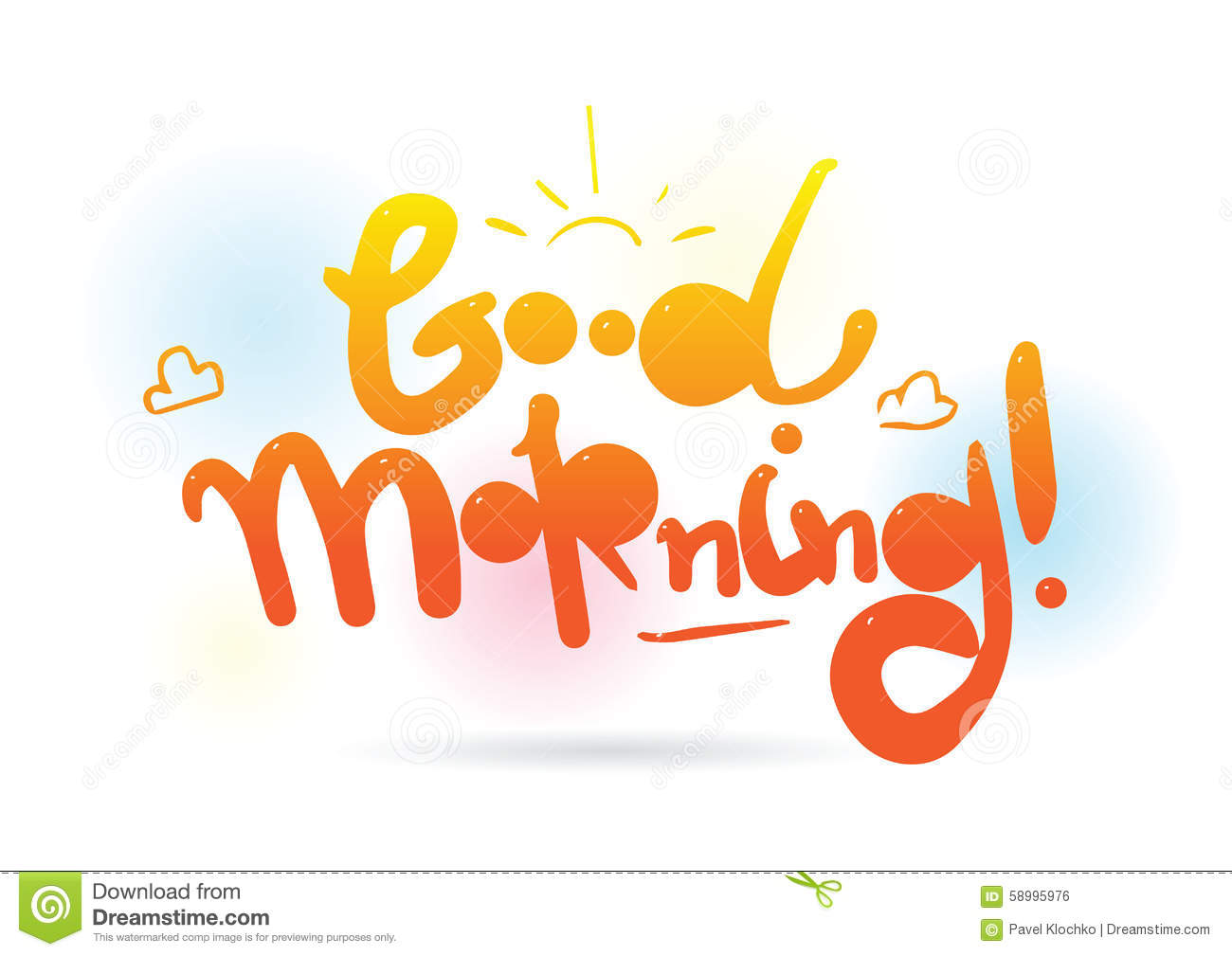 Good Morning Inscription Vector Design For Greeting Cards Or Print