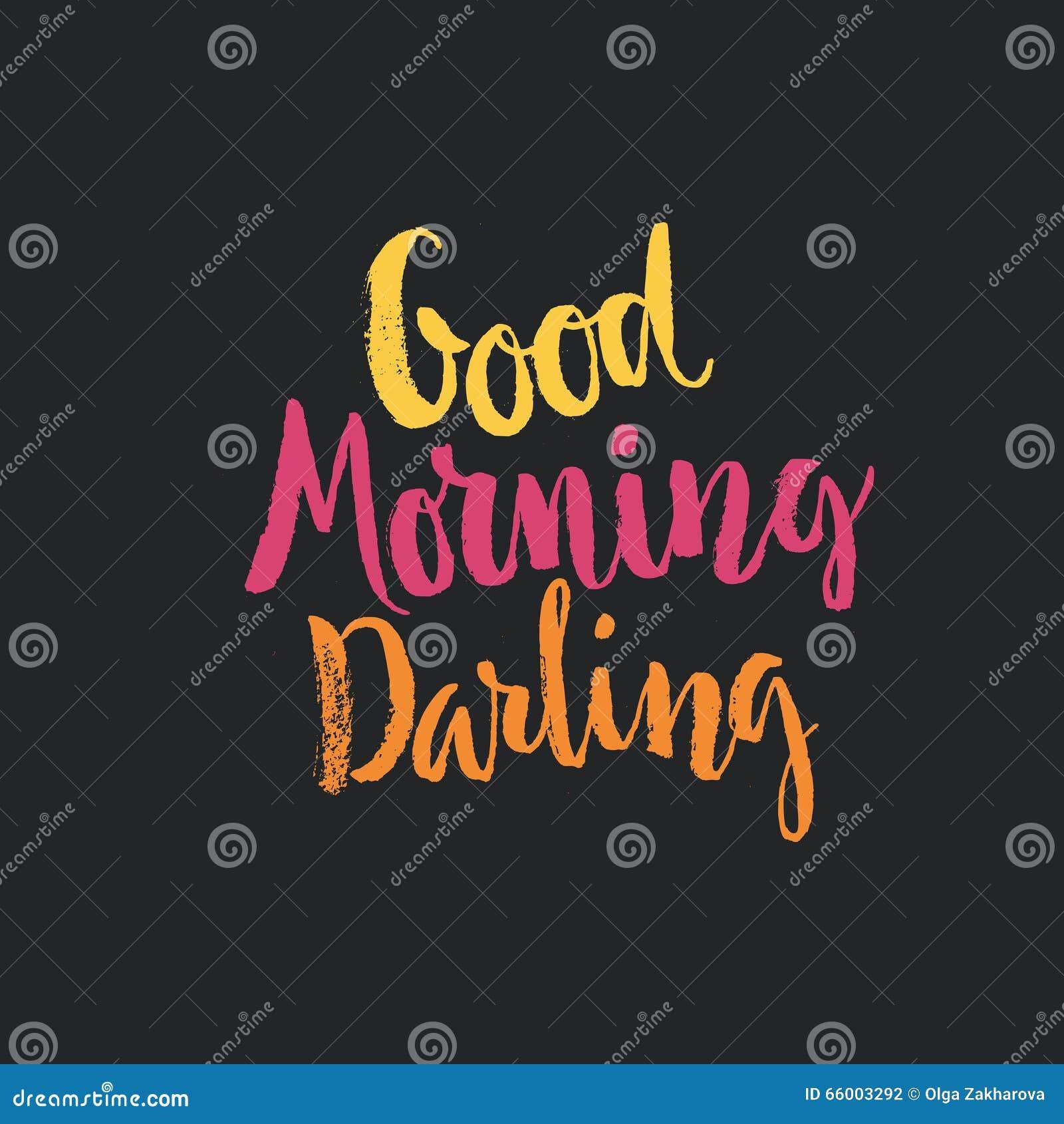 Good Morning Lettering Stock Vector Illustration Of Banner 66003292
