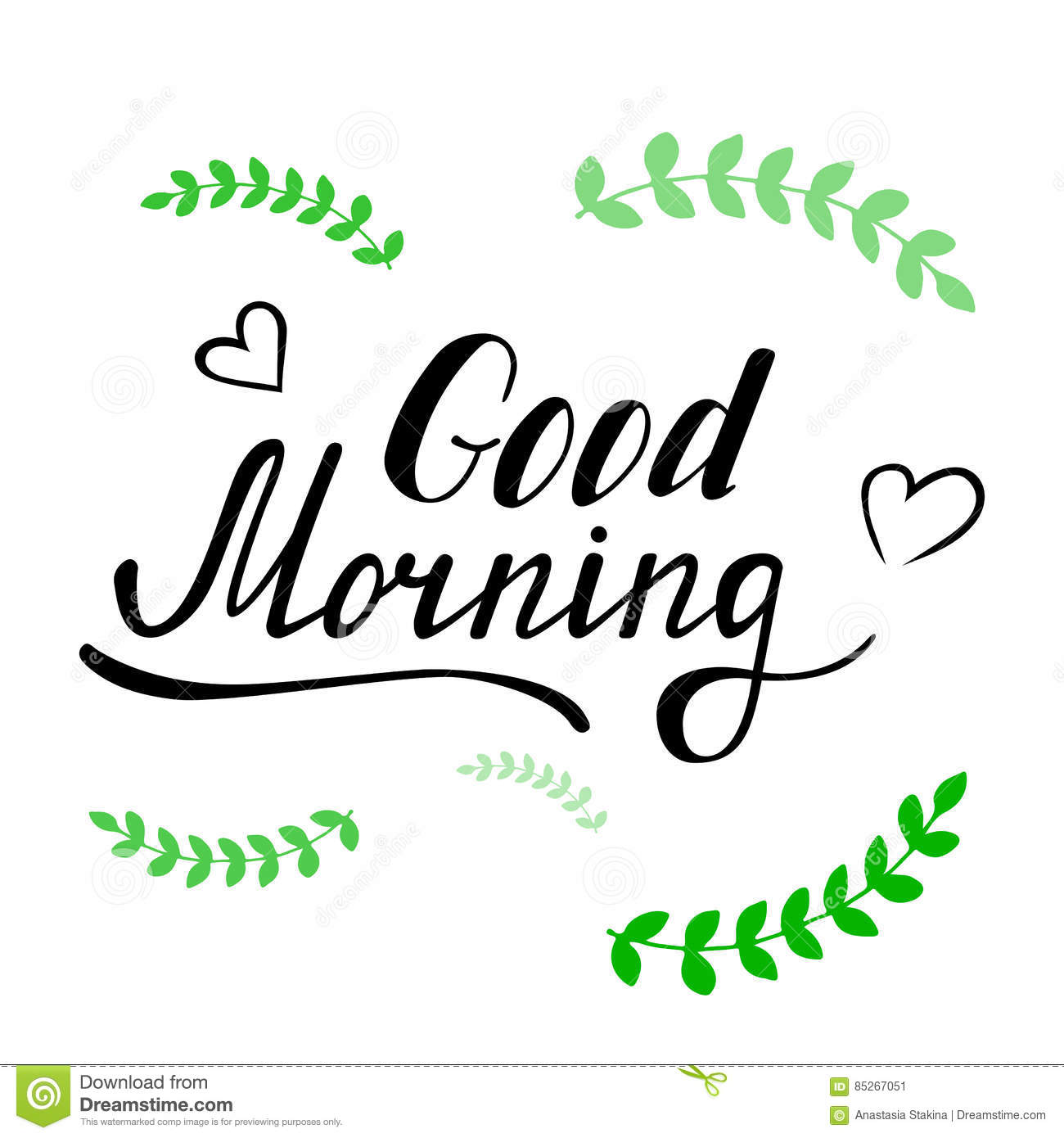 Good morning lettering stock vector image
