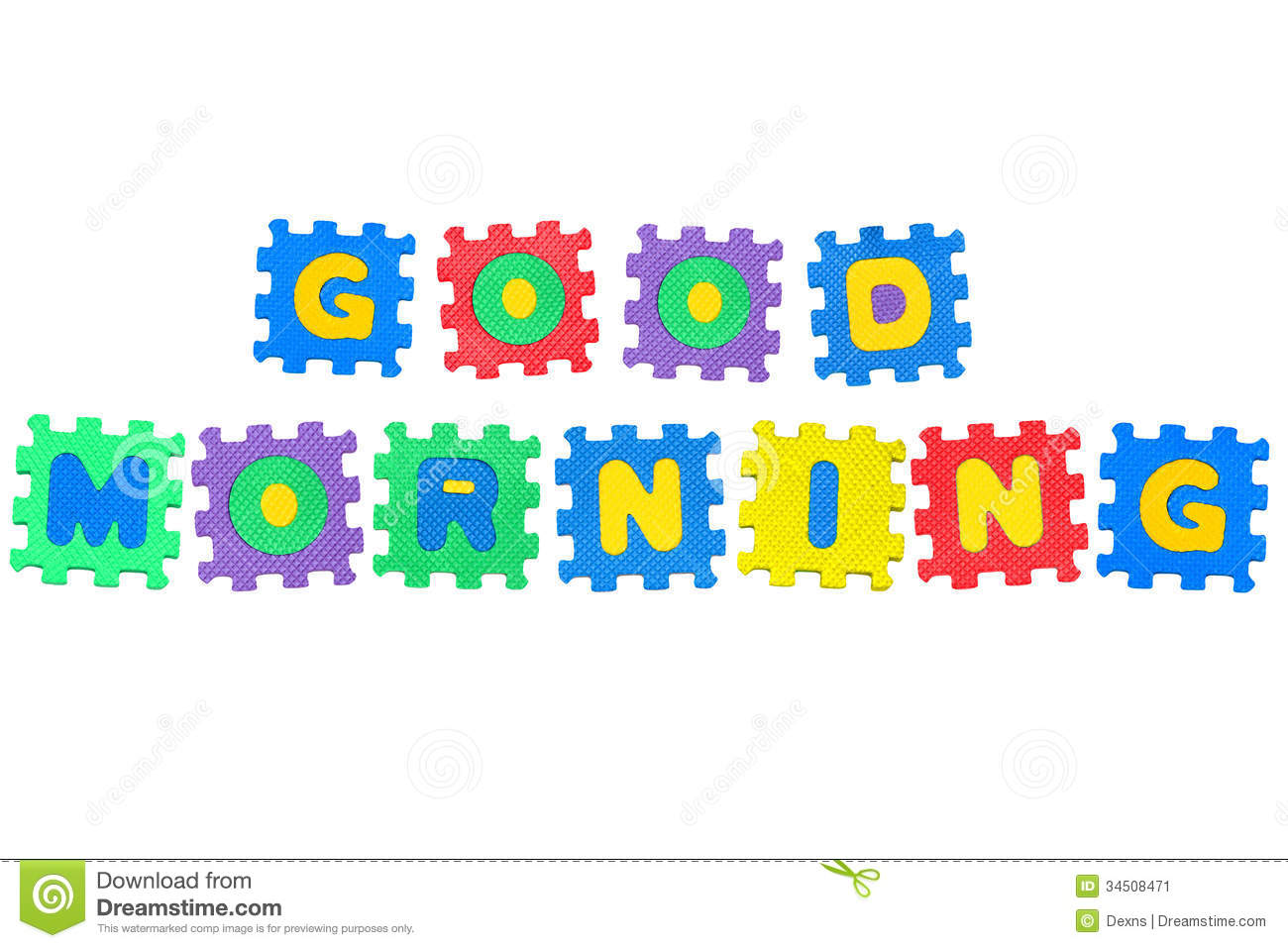 Good Morning Stock Image Image Of Photograph Letter