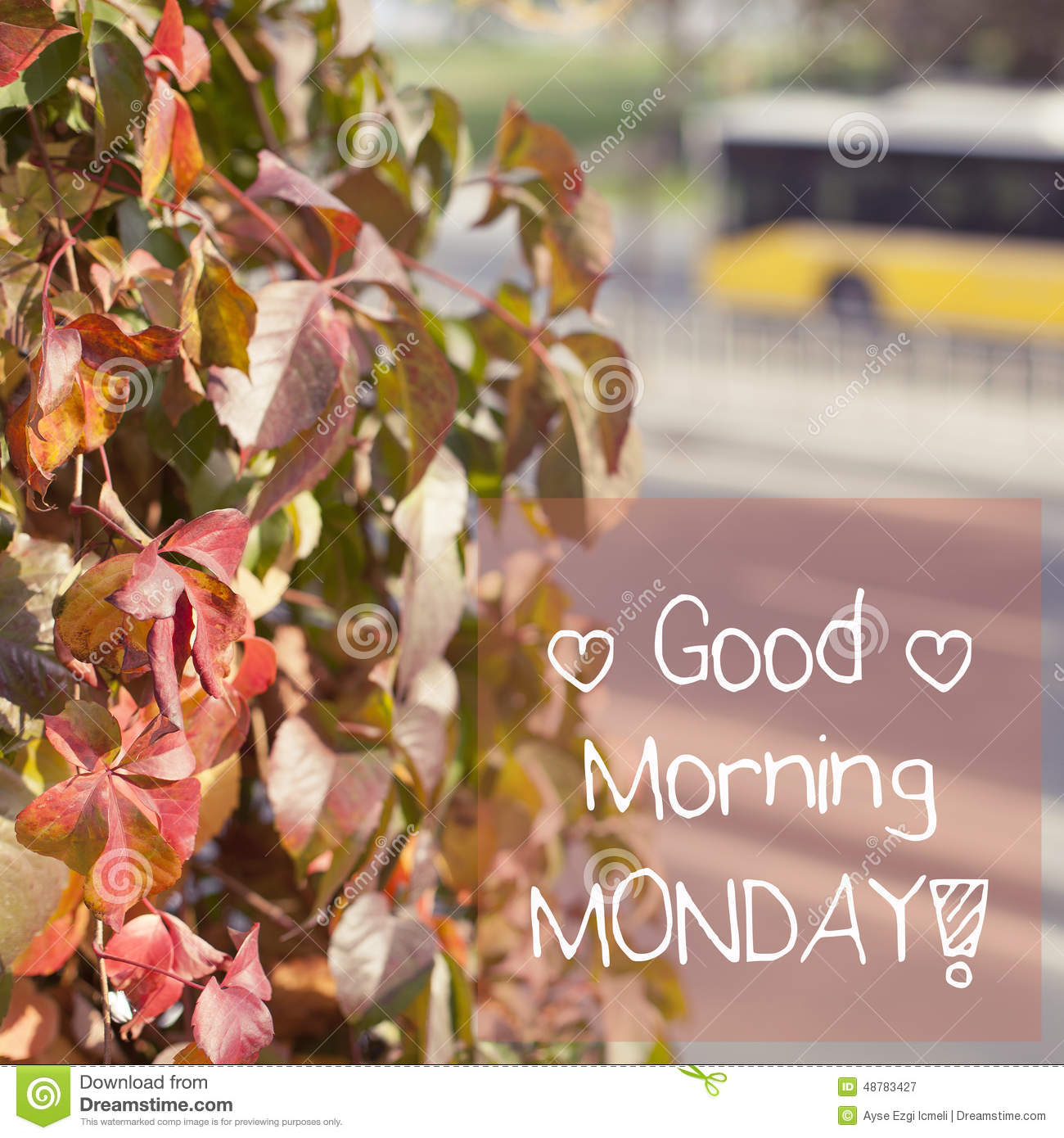 Good Morning Monday Inspirational Background Design Stock