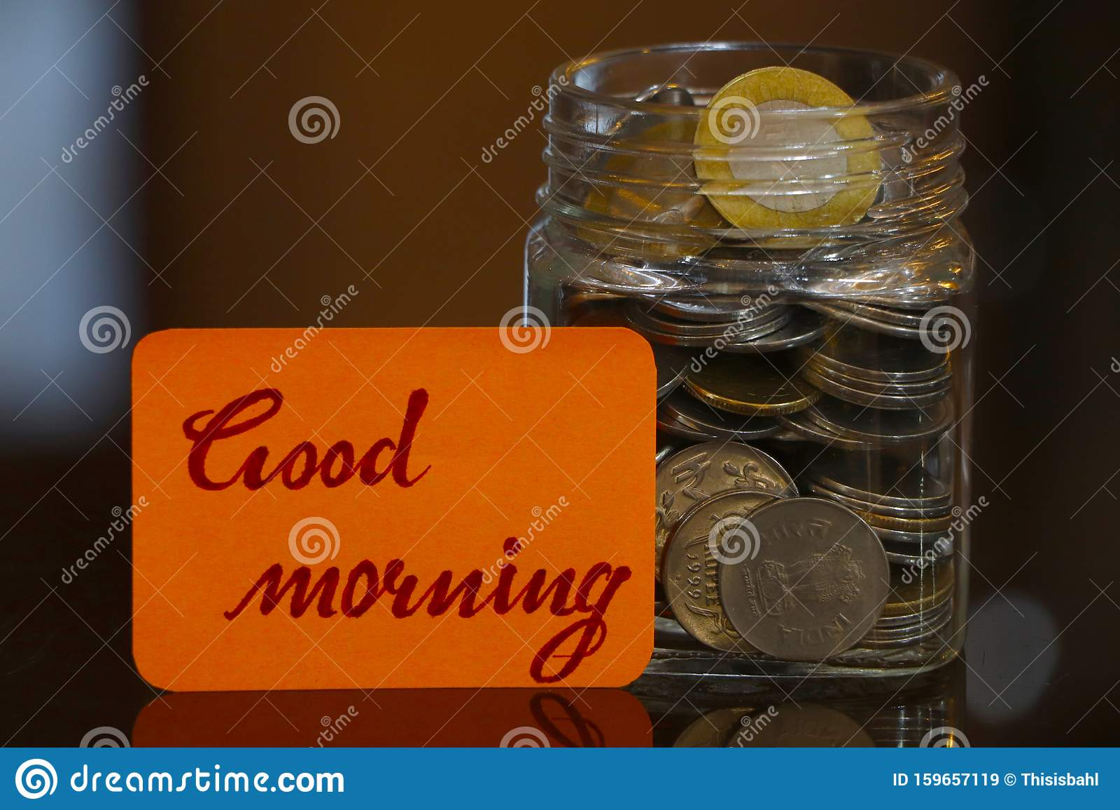 Good Morning. Money Jar.