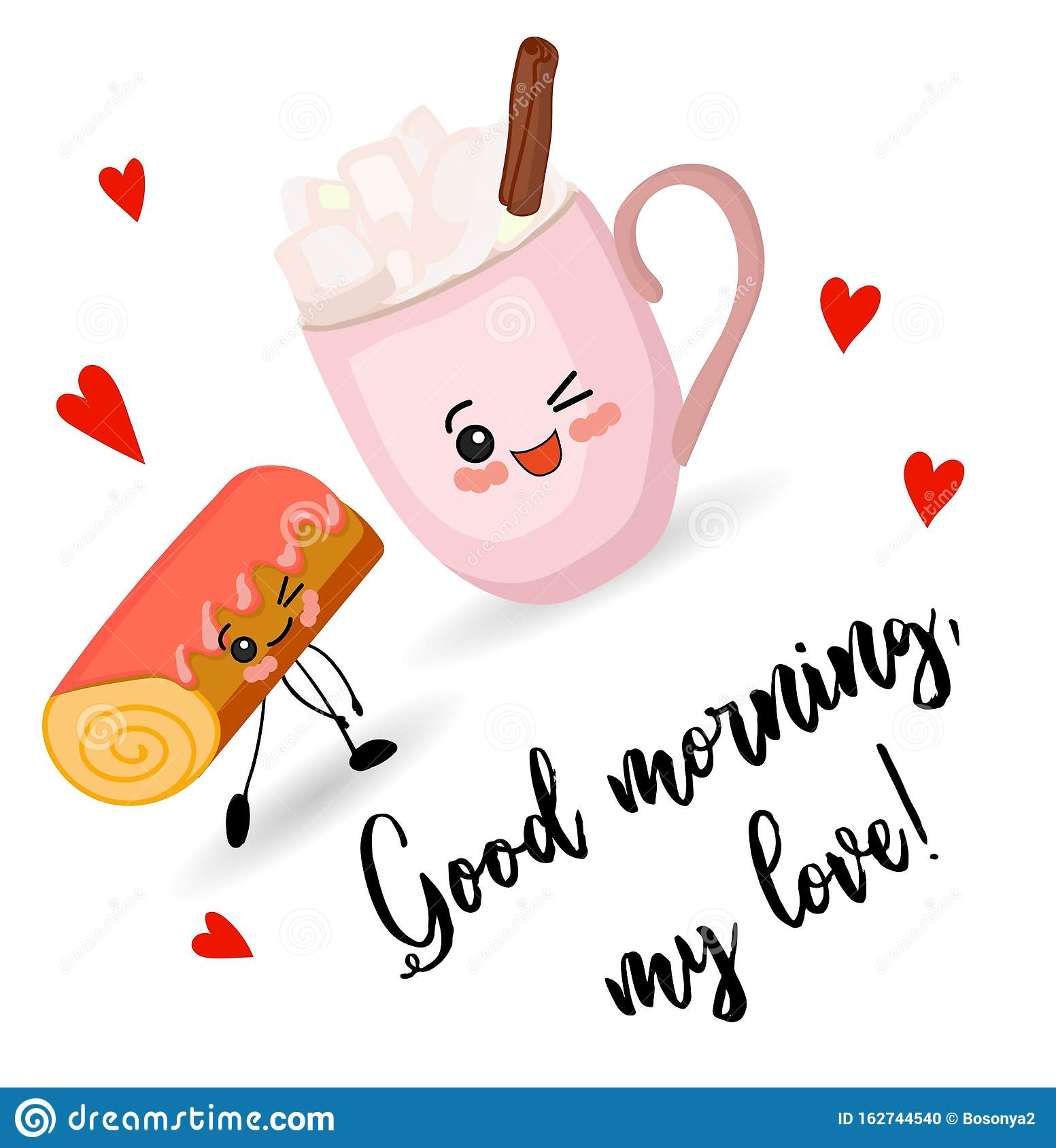Good Morning My Love Cute Card For Valentines Day Tasty