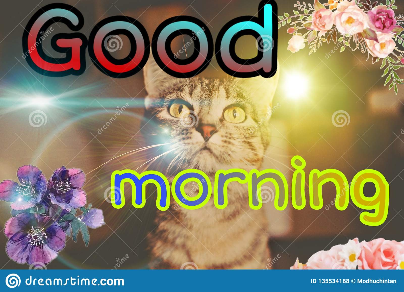 Good Morning Picture Stock Illustration Illustration Of Happy