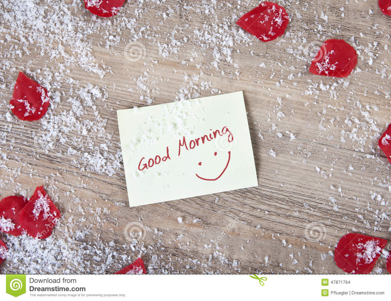 Good Morning Love Symbol : Good morning snow and roses flowers stock photo image