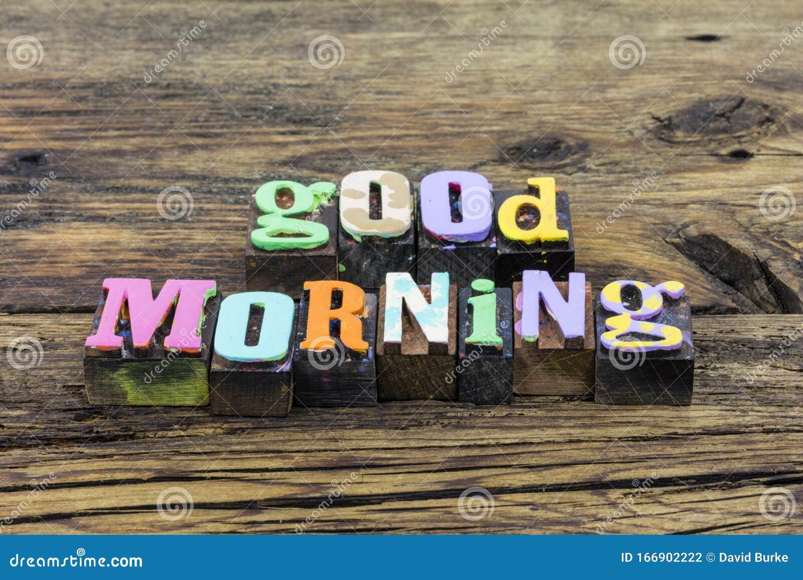 Good Morning Sunshine Breakfast Greeting Happy Day Family Couple Relationship Stock Photo Image Of Breakfast Letter 166902222