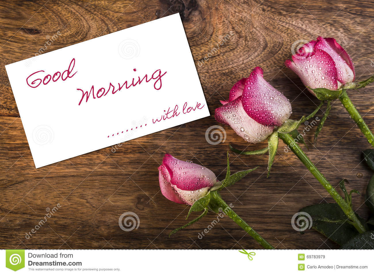 Good Morning Stock Image Image Of Floral Celebration 69783979