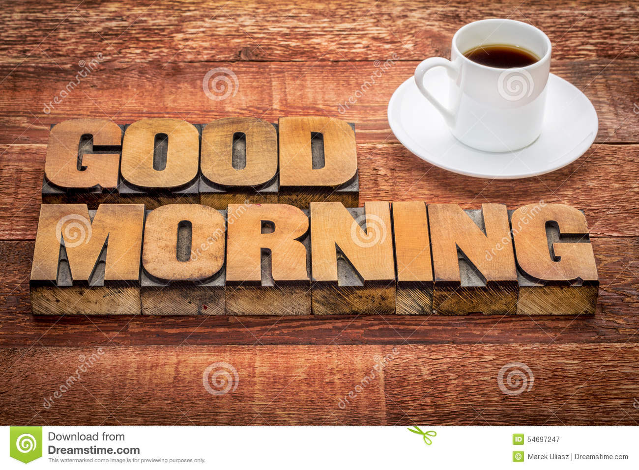 Good Morning Typography Coffee Stock Images Download 65 Royalty