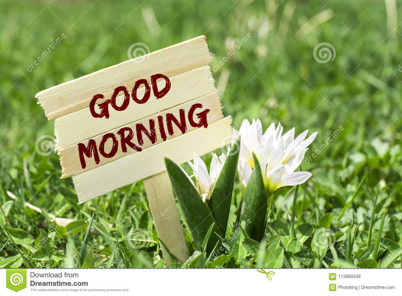 Good Morning Sign Stock Image Image Of Card Alarm 113869339