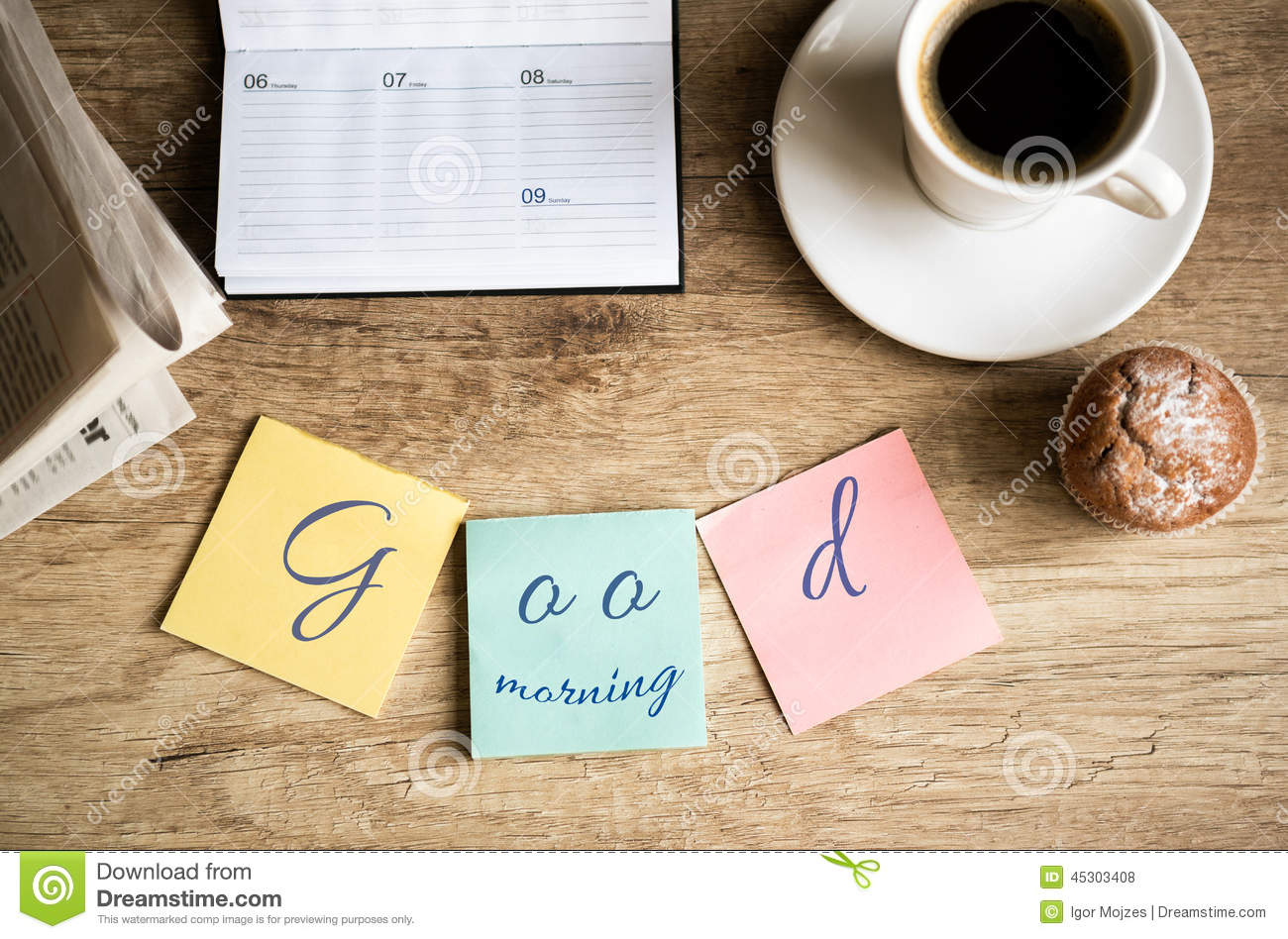 Good Morning On Work Stock Photo - Image: 45303408