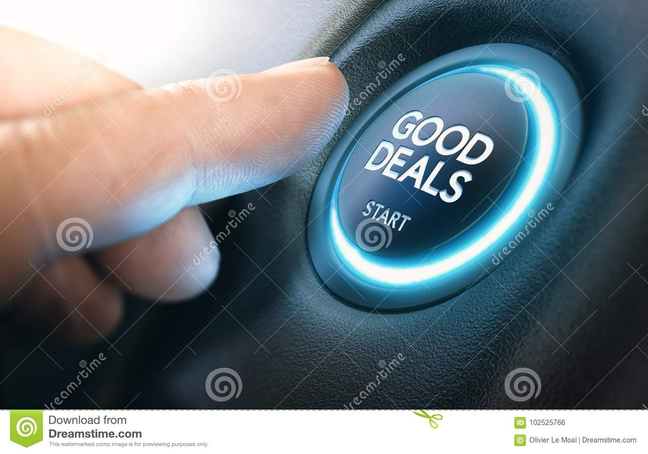 3D Auto Sales >> Good New Car Deals Auto Sales Stock Illustration