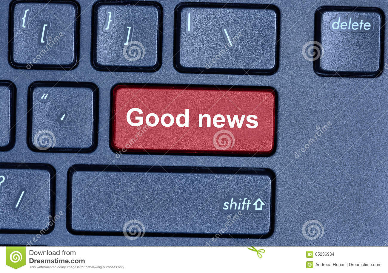 Good news words computer keyboard stock photos 5 images ccuart Images