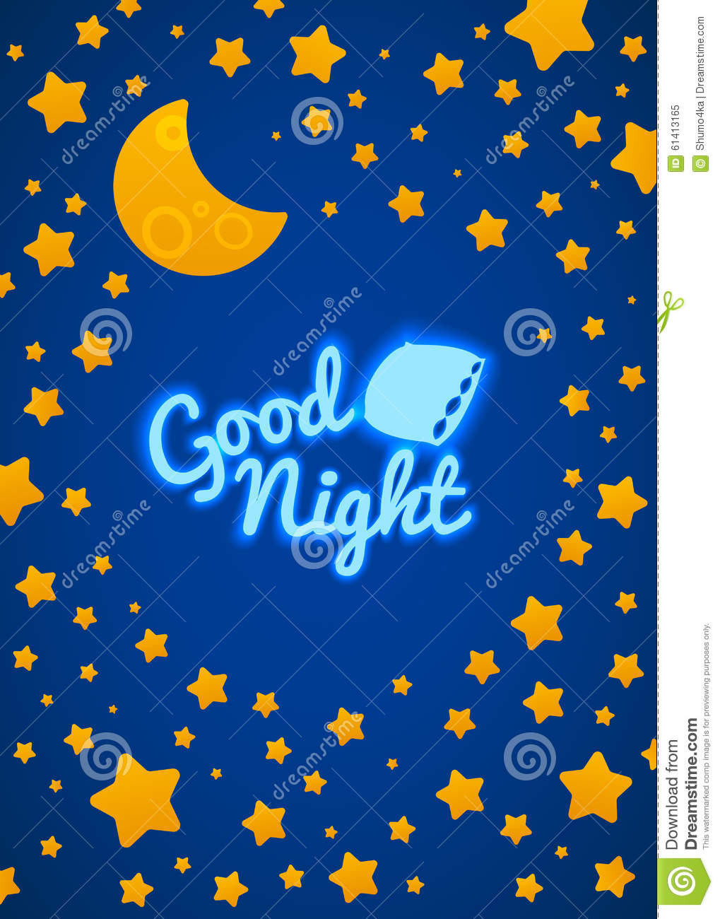 Good Night Bed Time Illustration Stock Vector Image