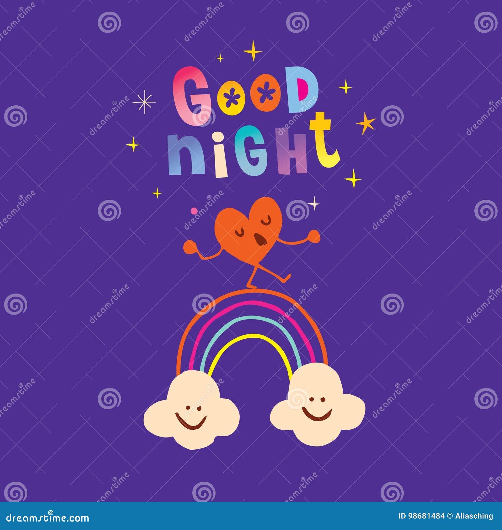 Good Night Stock Vector Illustration Of Smile Goodnight 98681484
