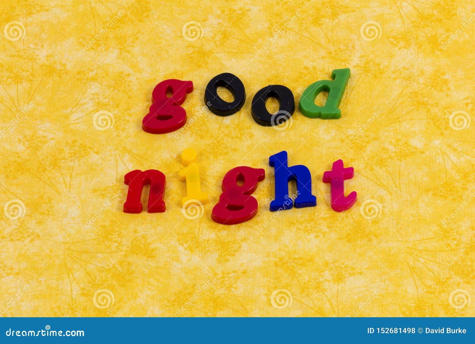 Good night morning love greeting children bedtime story