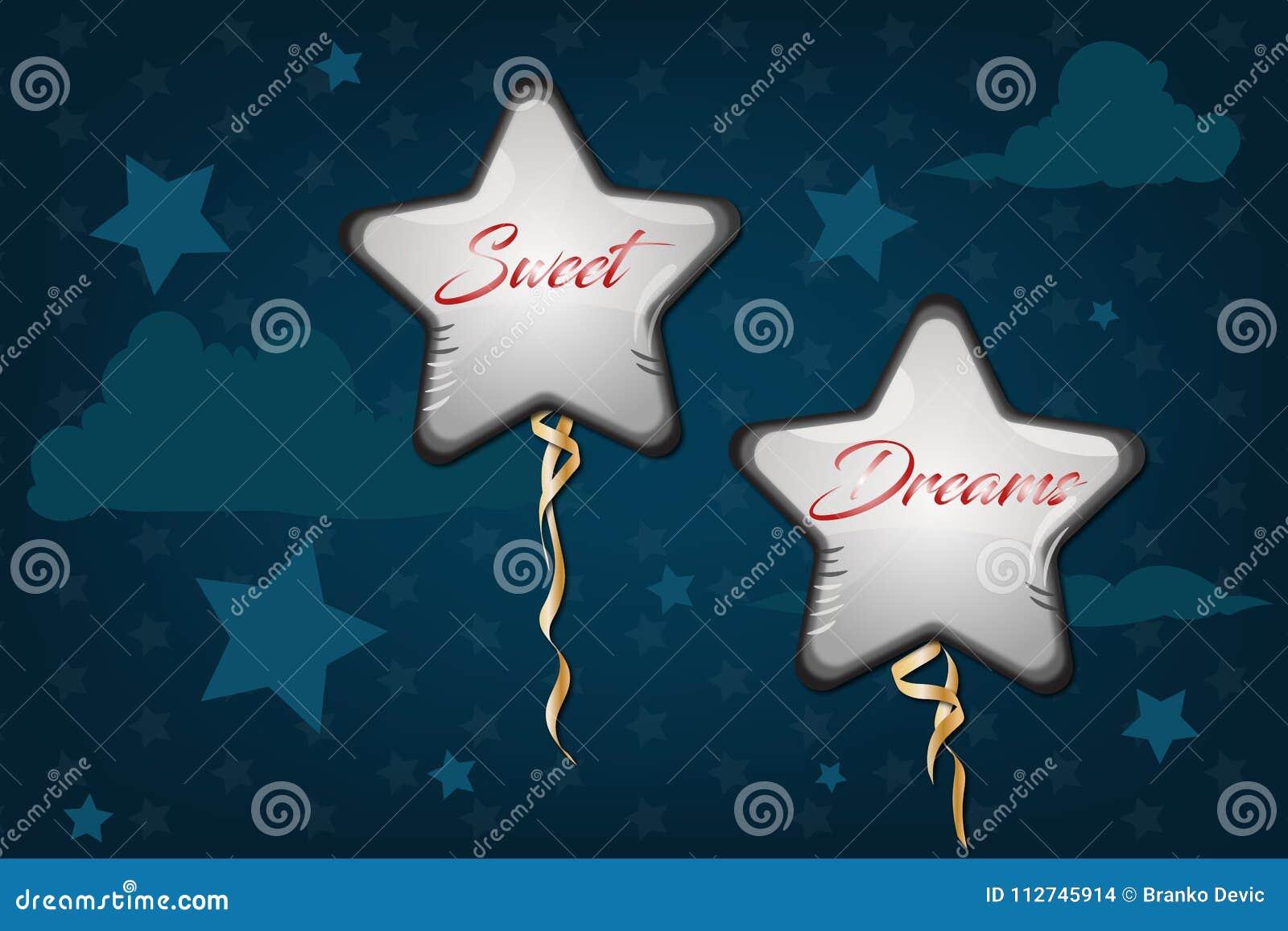 Good Night And Sweet Dreams Illustration Design Stock Illustration