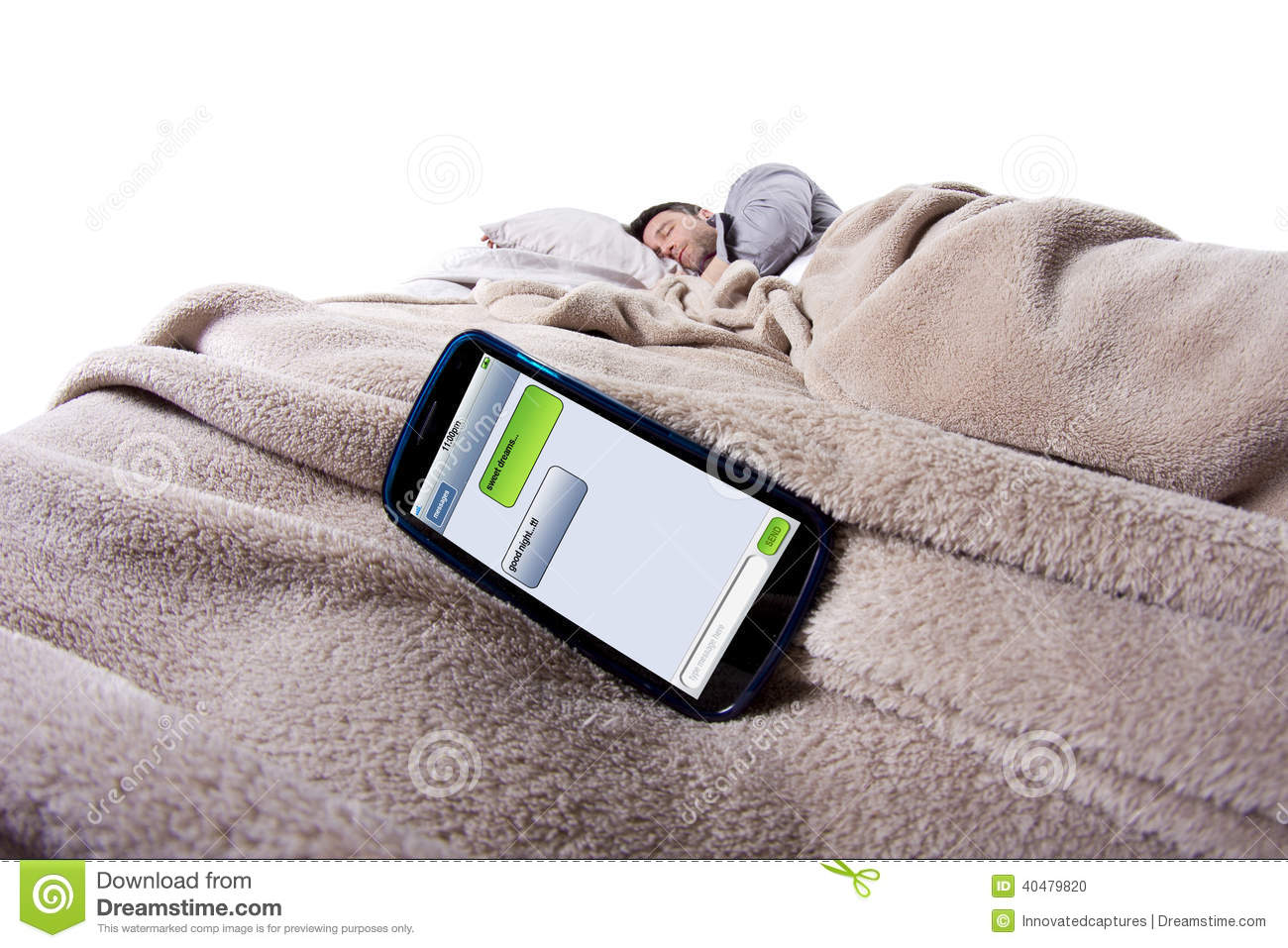 Good Night Text Messages Stock Photo - Image: 40479820