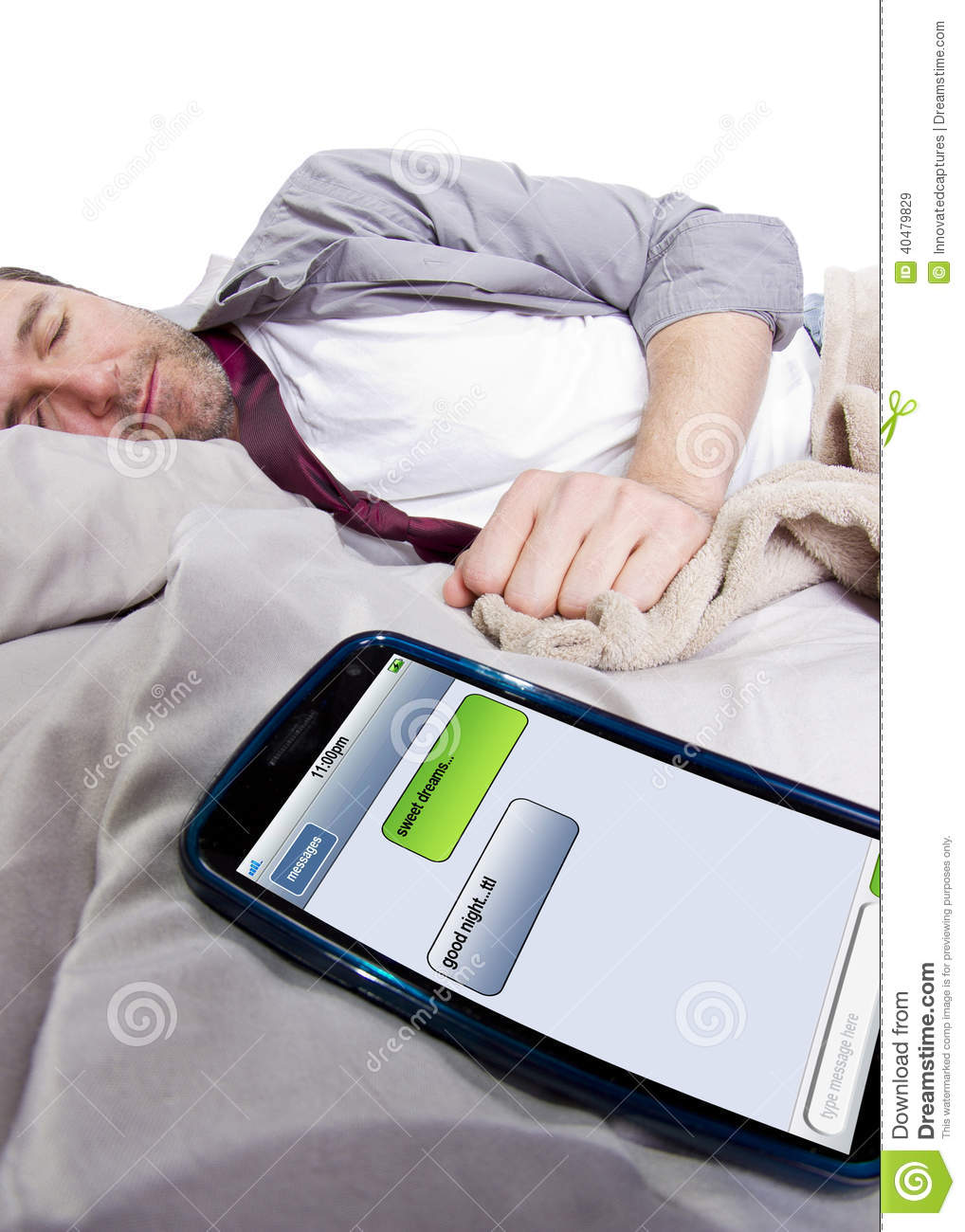 Good Night Text Messages Stock Photo - Image: 40479829