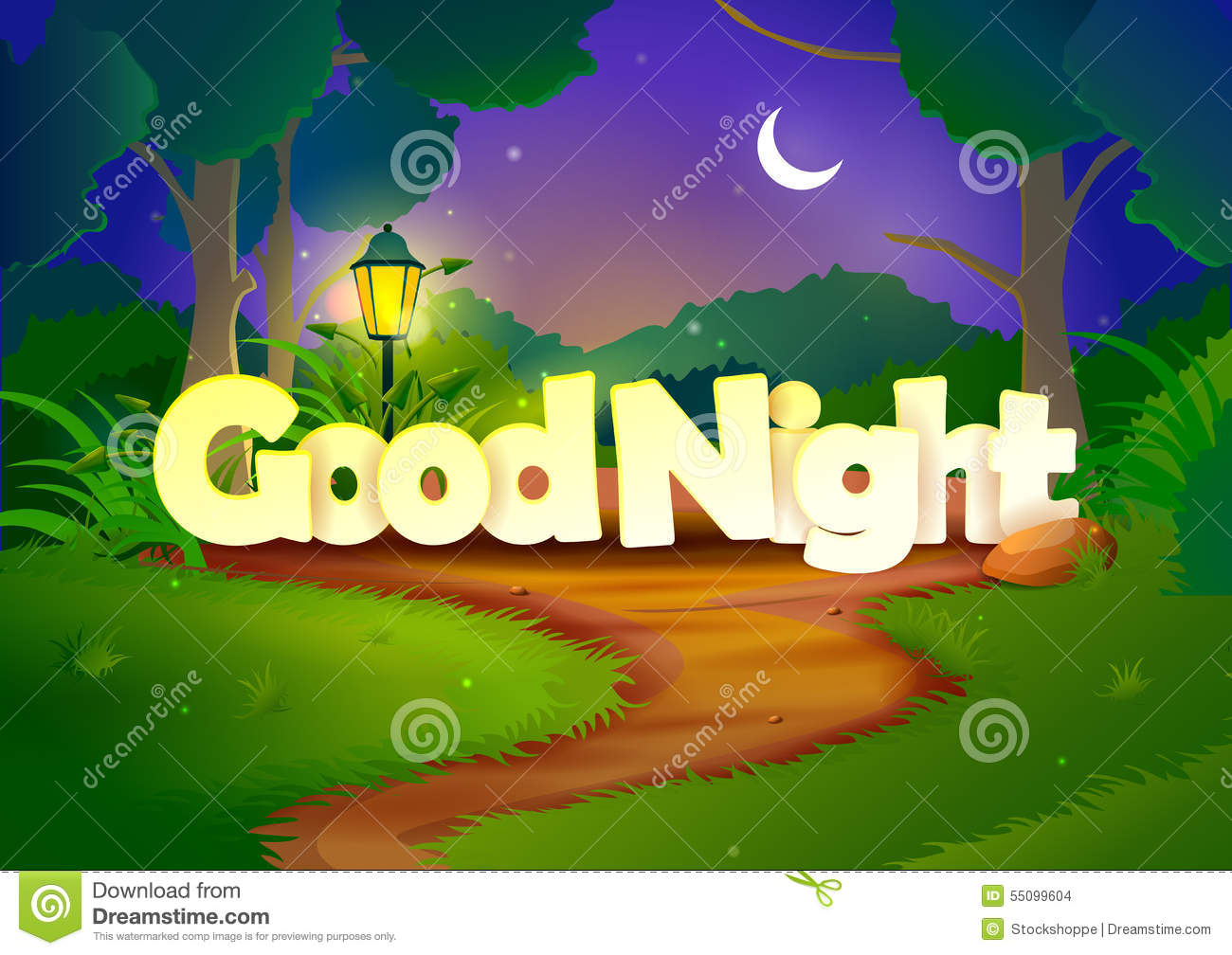Good Night Wallpaper Background Stock Vector Illustration Of Relax
