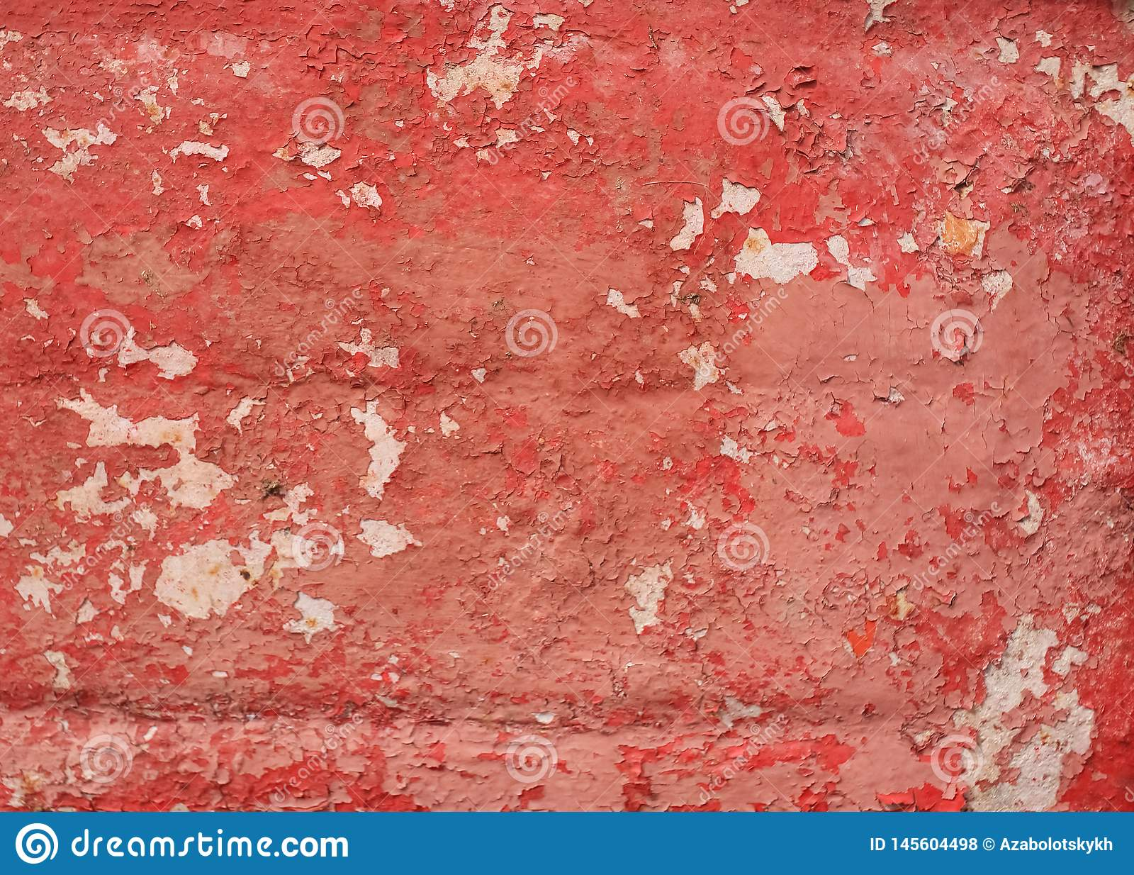 Texture of old red metal