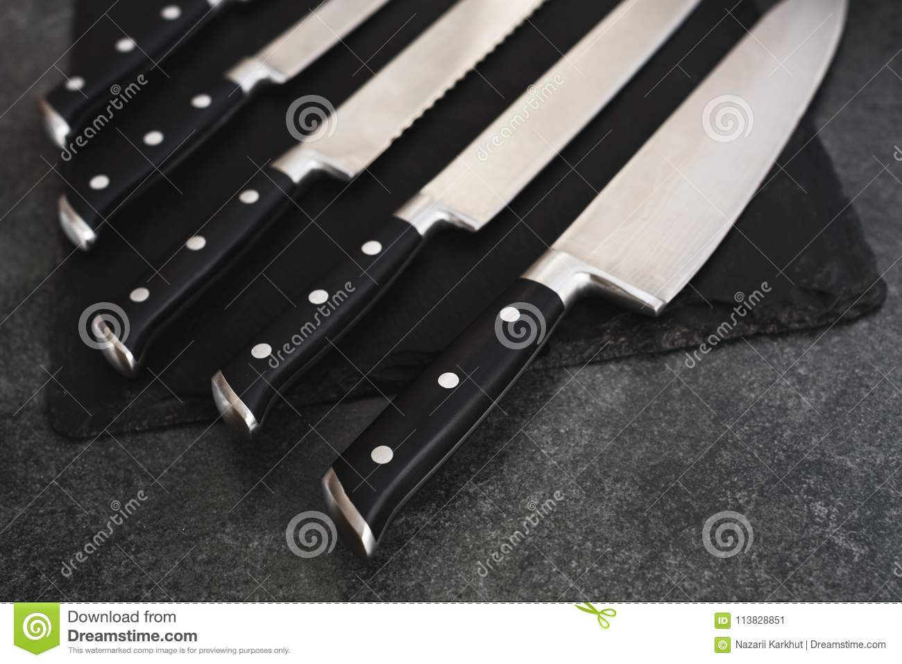 good set of kitchen knives a good set of kitchen knives for slicing stock image image of blacksmith kitchen 113828851 9189