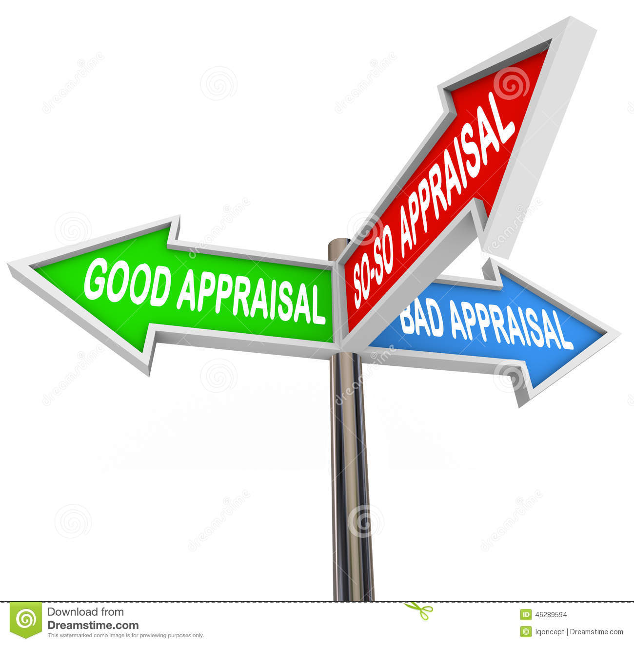 Good Vs Bad Appraisal Assessment Evaluation Signs Stock Illustration ...