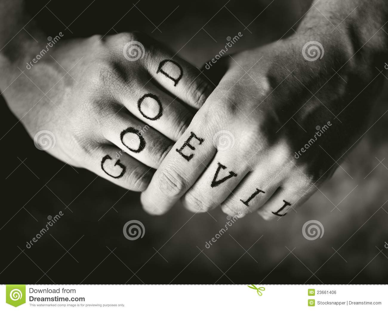 Good vs evil royalty free stock image image 23661406 for World good images
