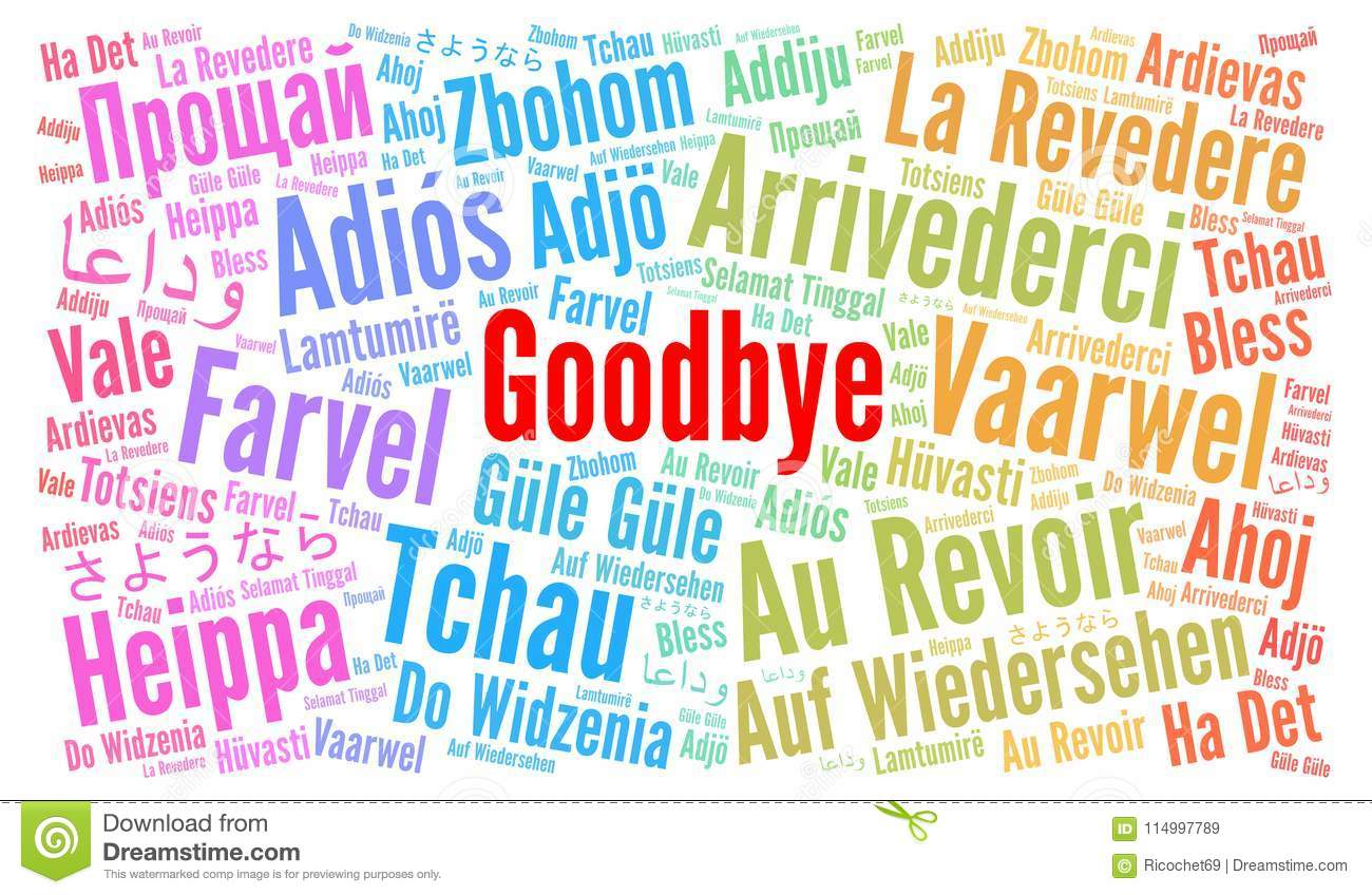 goodbye in different languages word cloud stock illustration illustration of illustration. Black Bedroom Furniture Sets. Home Design Ideas