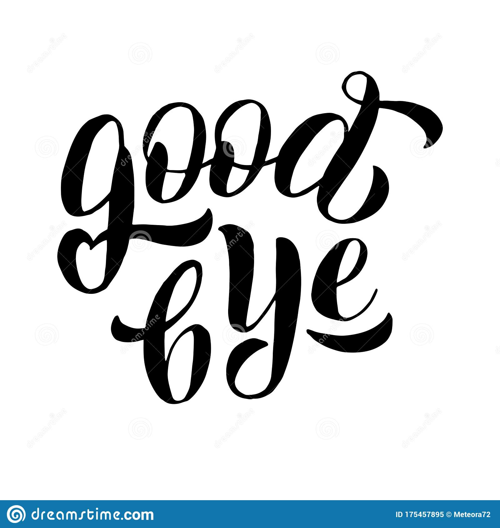 goodbye lettering text phrase farewell party banner