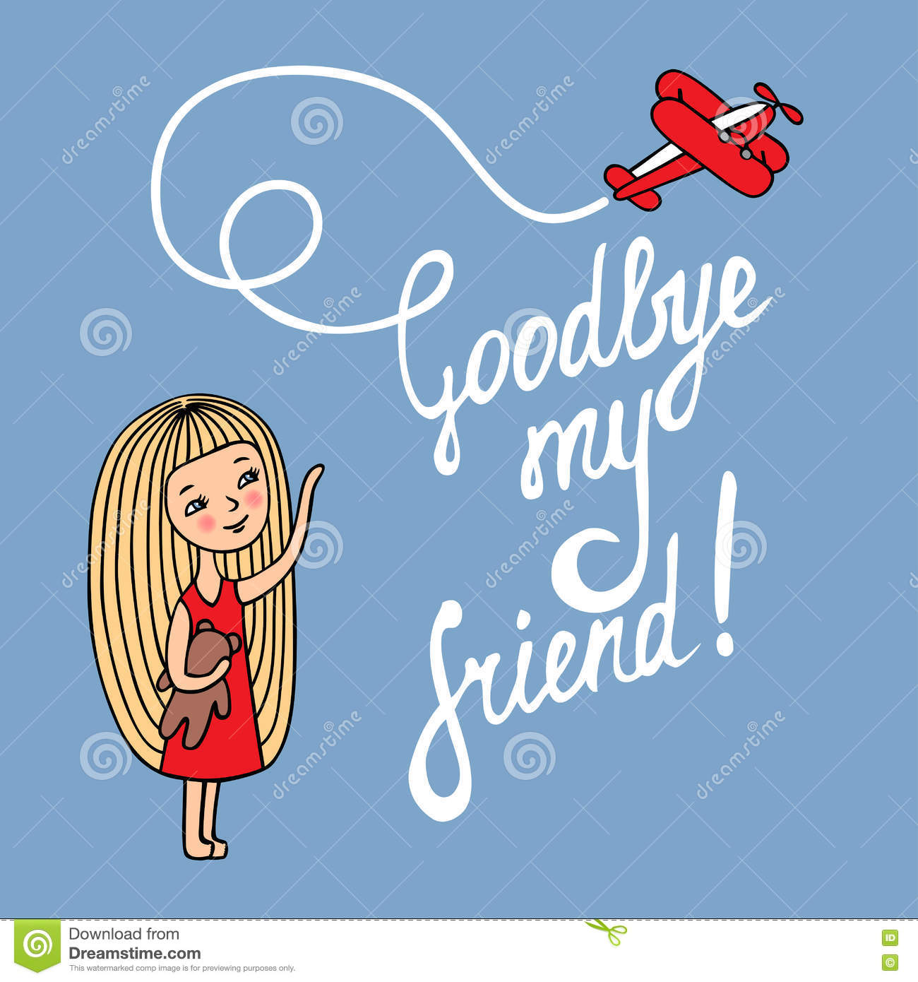 Goodbye my friend stock vector. Image of goodbye, person ...