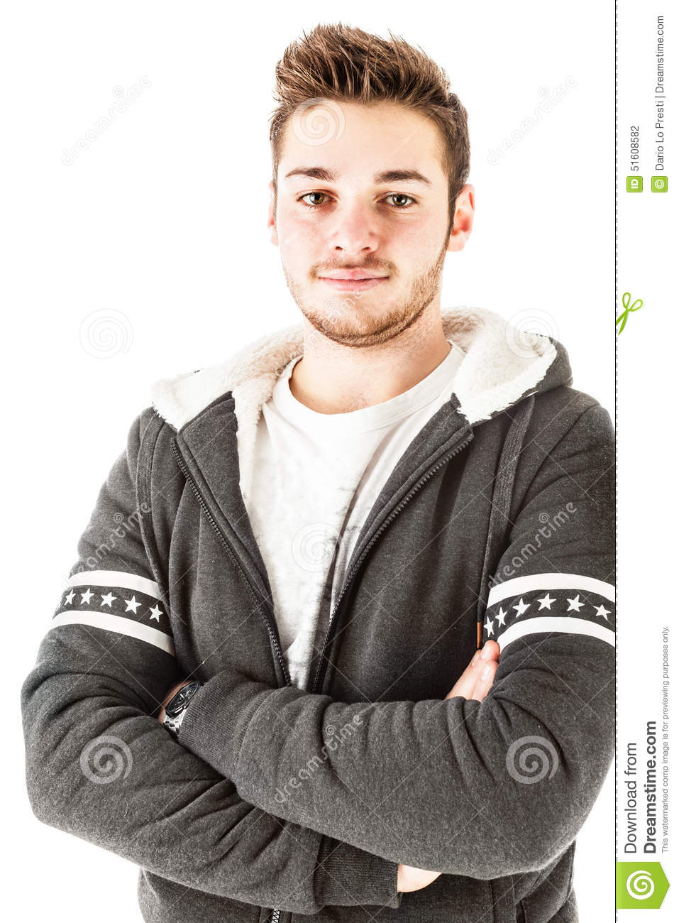 Goodlooking Guy Stock Photo. Image Of Cold, Cool, Isolated