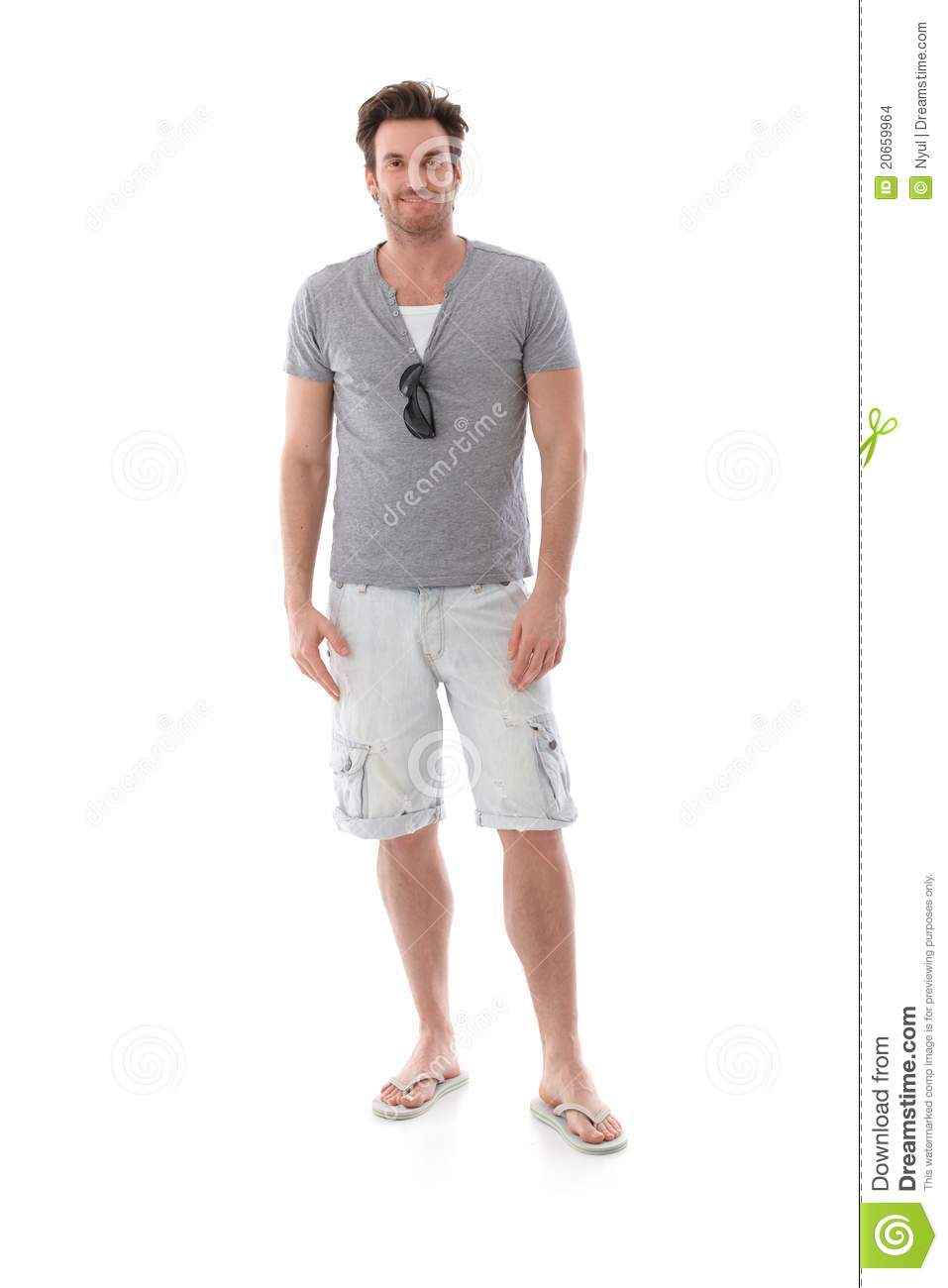 Download Goodlooking Man At Summertime Stock Photo - Image of cutout, confident: 20659964