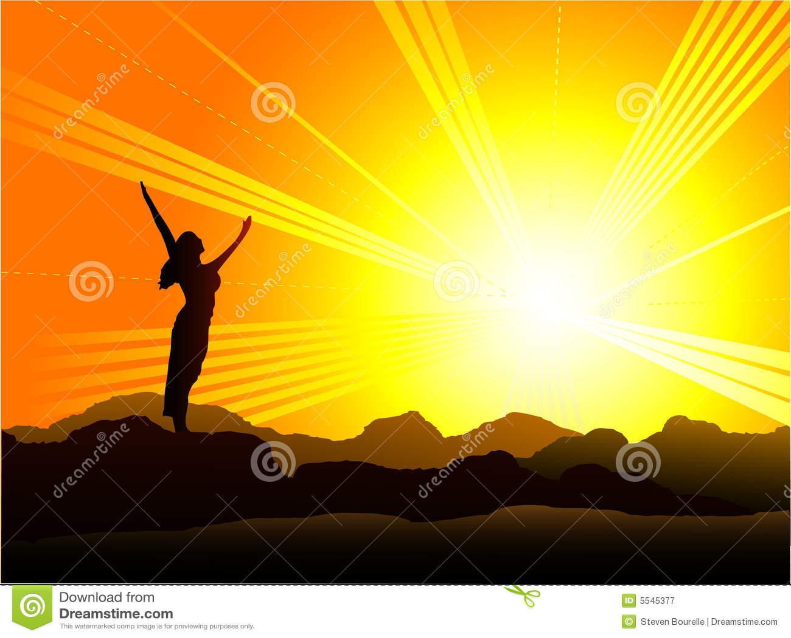Goodmorning sunrise stock vector. Illustration of yoga