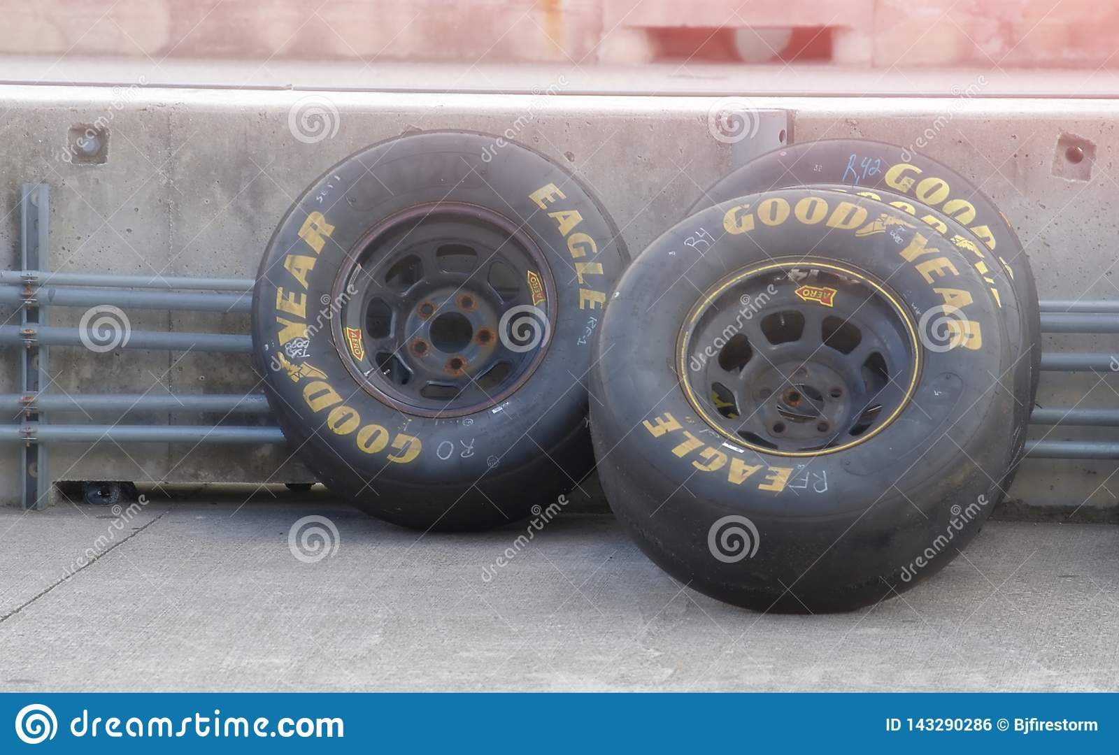 Goodyear Racing Tires >> Goodyear Racing Tires Sitting At The Track Editorial Photo