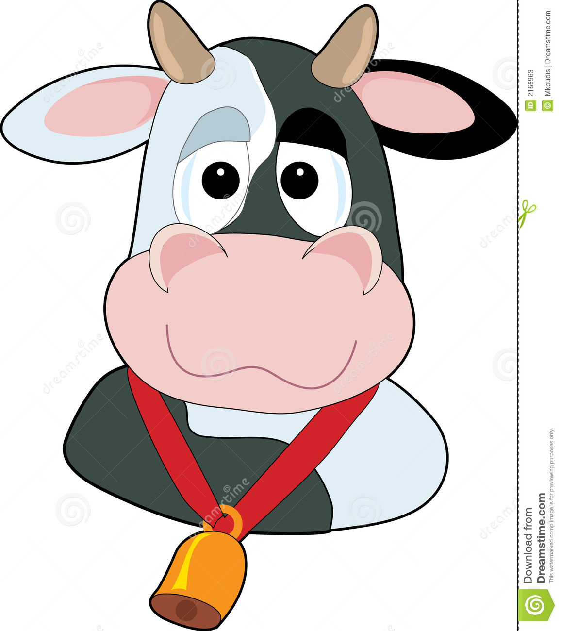 Goofy Cow Head Stock Photos - Image: 2166963