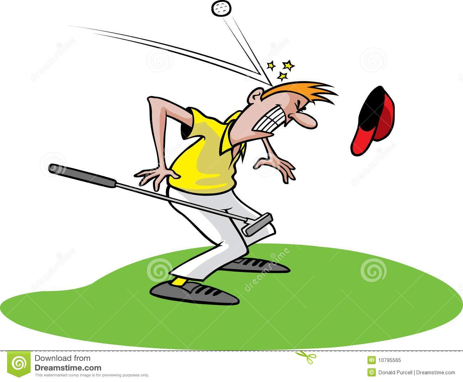 Goofy Golf Guy 1 Stock Vector. Illustration Of Cartoon