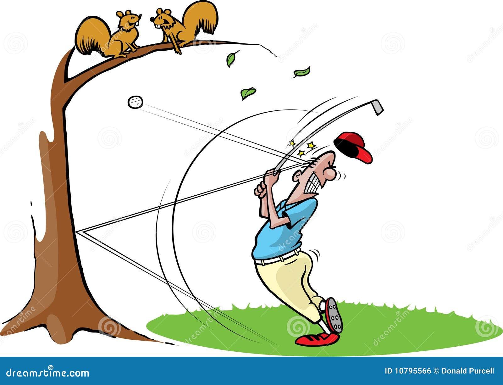 Goofy Golf Guy 2 Stock Vector Illustration Of Clumsy 10795566