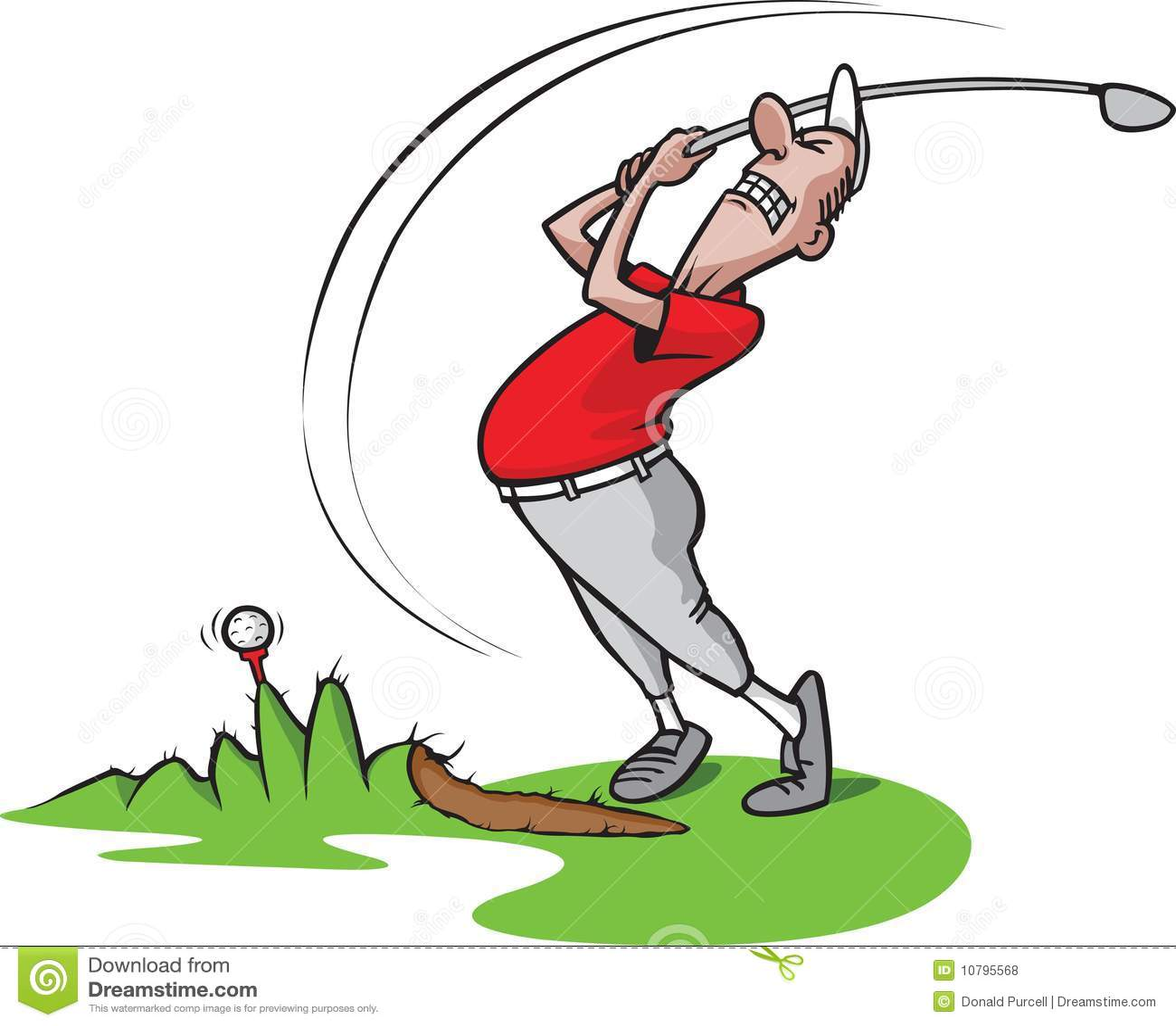 Goofy Golf Guy 3 Stock Vector. Illustration Of Golfer