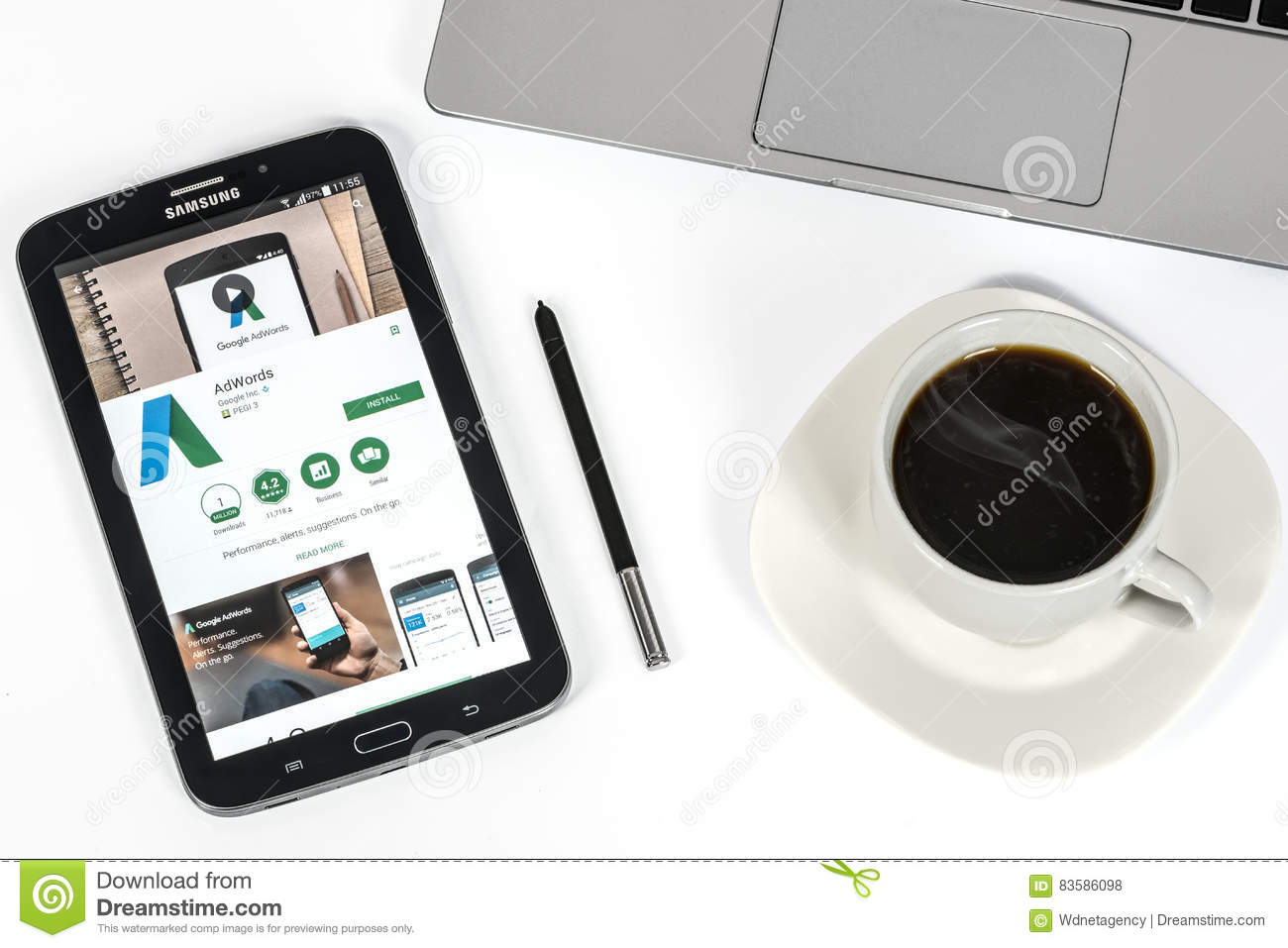 Google AdWords Application editorial stock photo  Image of