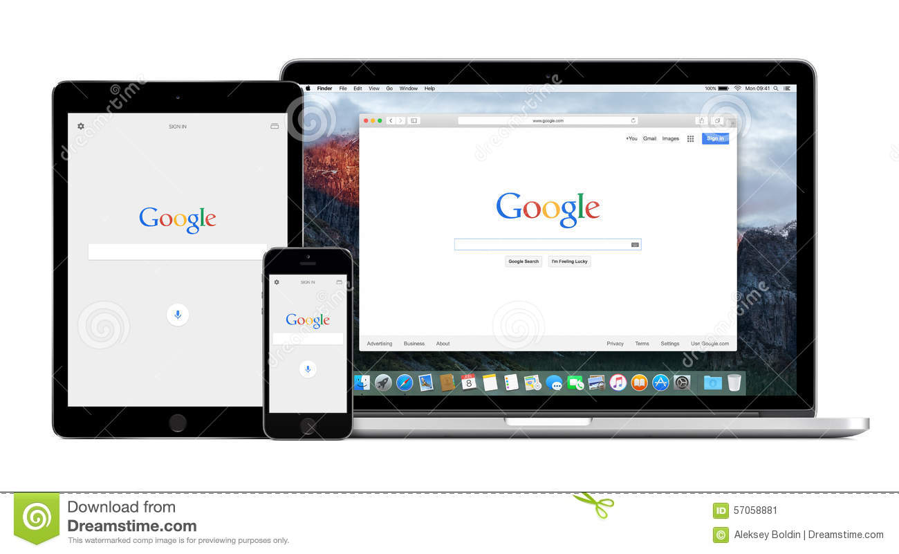 Google App On The Apple IPhone IPad And Apple Macbook Pro