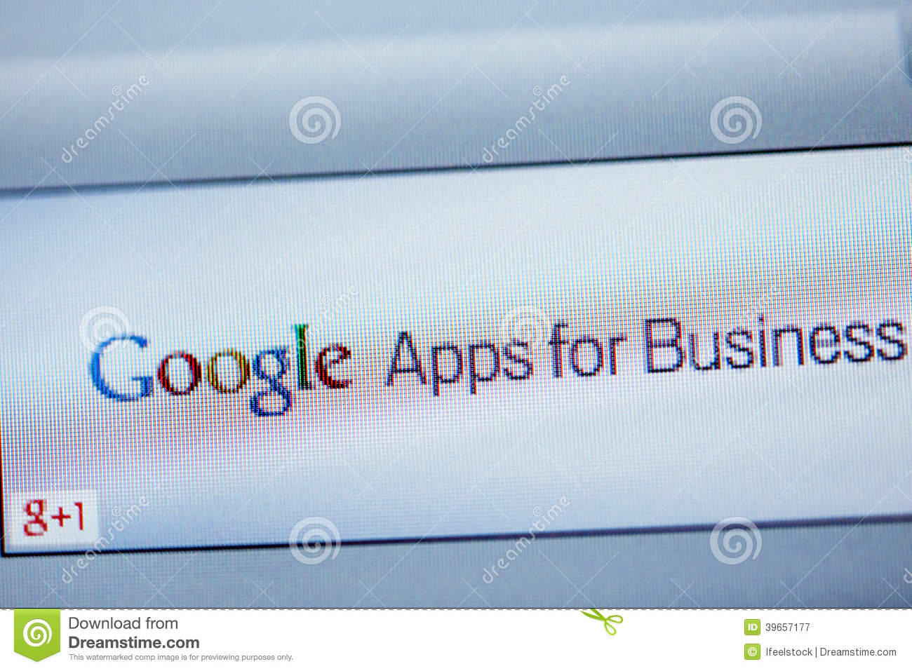 Google Apps For Business on computer screen