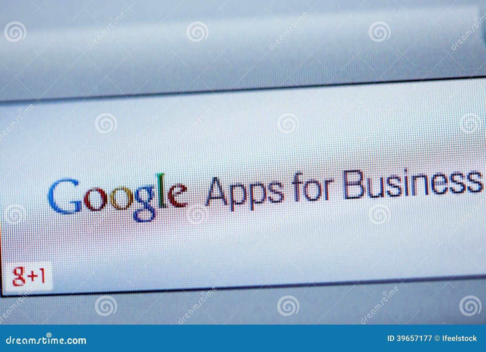 Google Apps para o negócio no tela de computador
