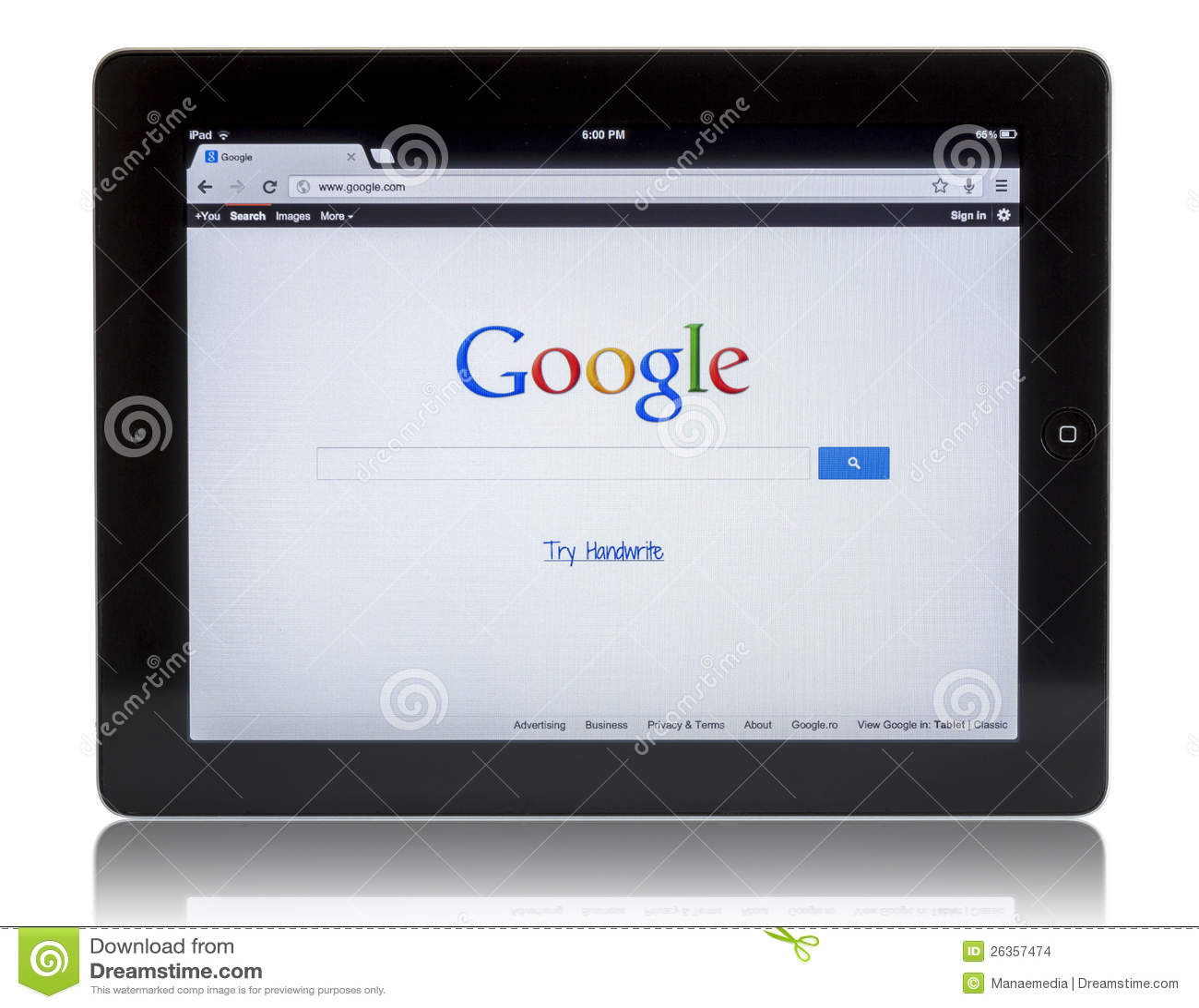 Google auf iPad 3
