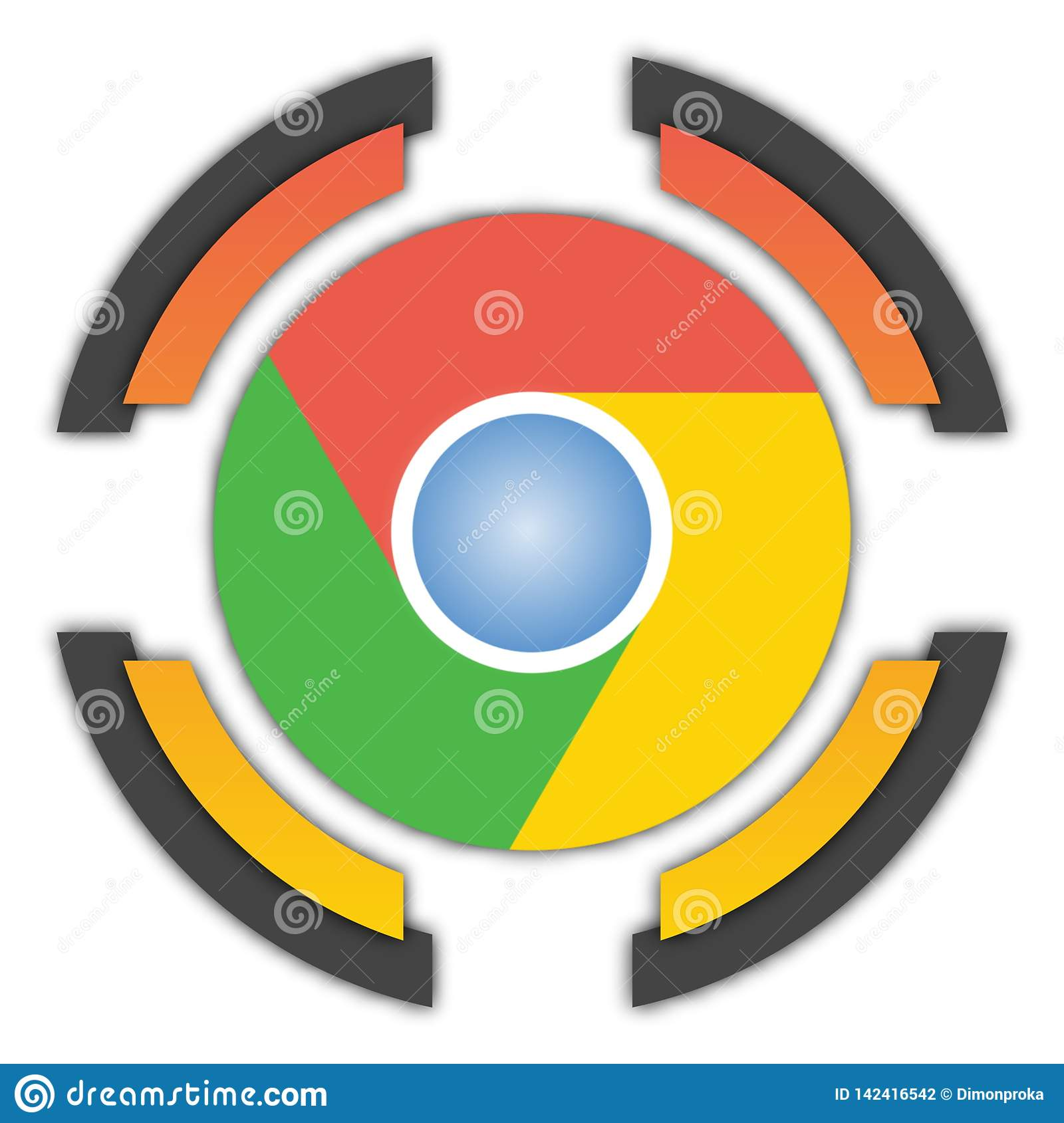 Google Chrome button editorial photography  Illustration of